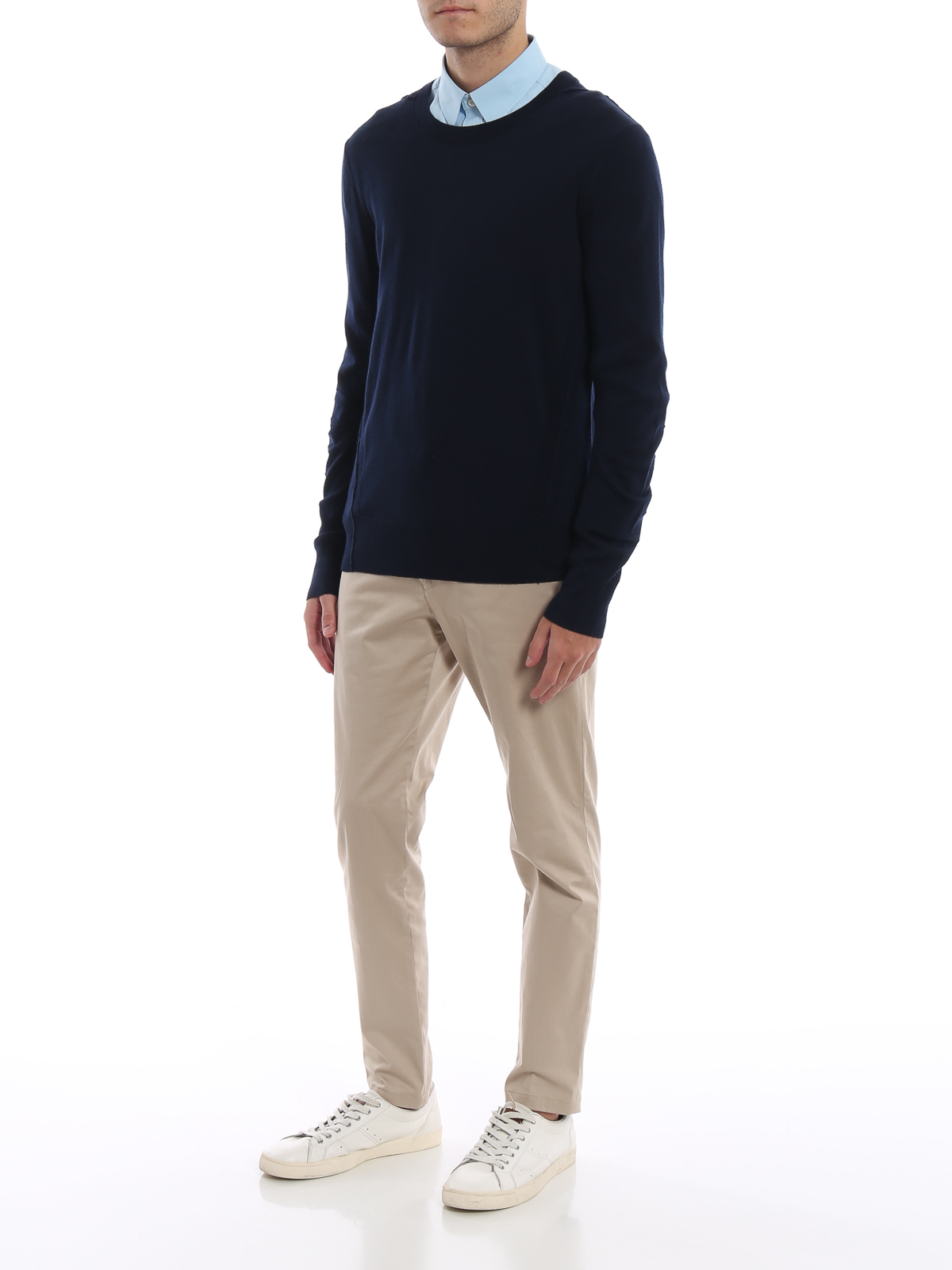 03fc4d2ec Burberry - Carter navy blue wool sweater - crew necks - 4061742
