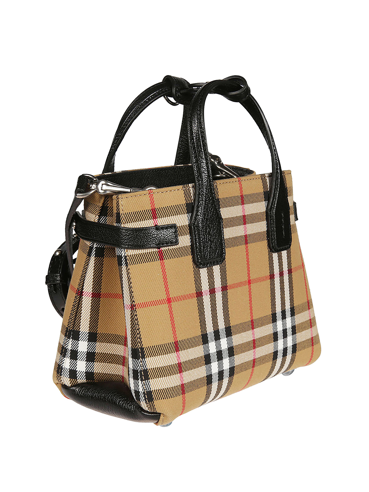 Burberry Baby Banner Vintage Check And Leather Bag Cross Body Bags 4079964