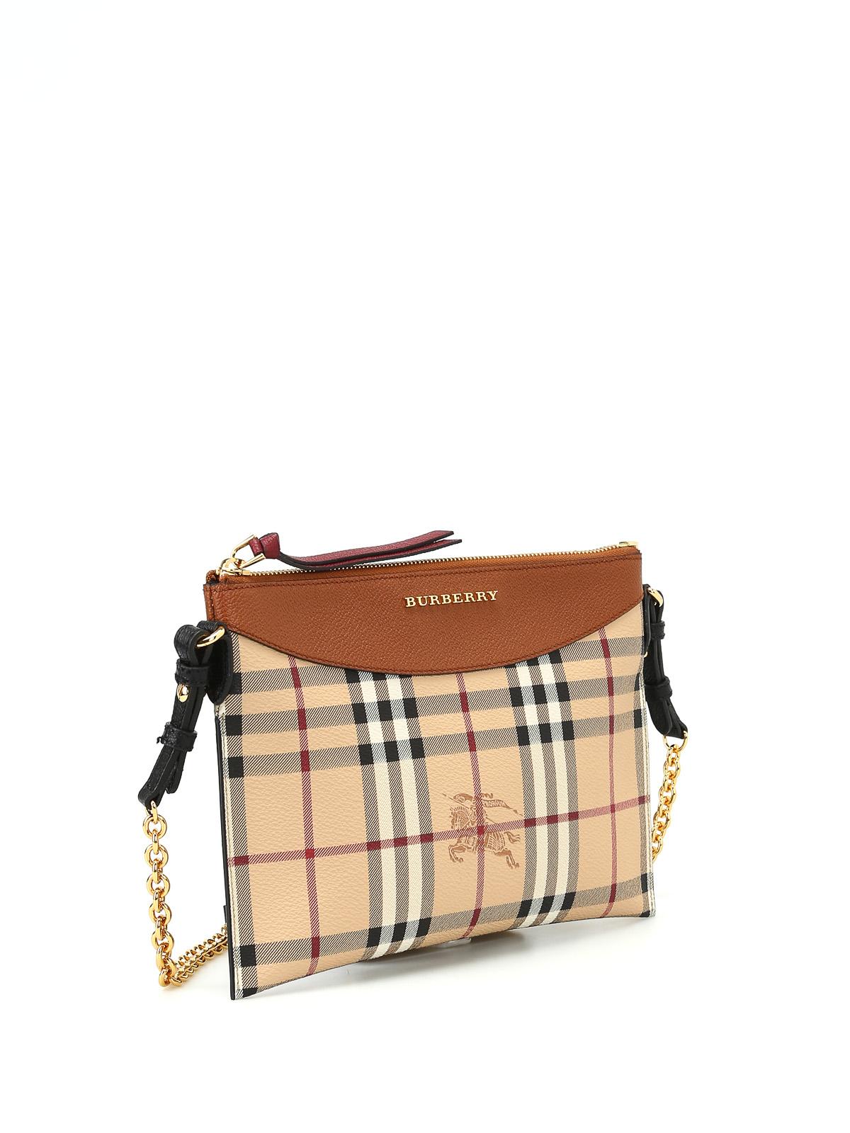 ee4c31d1ed BURBERRY: cross body bags online - Tartan Haymarket check print pouch