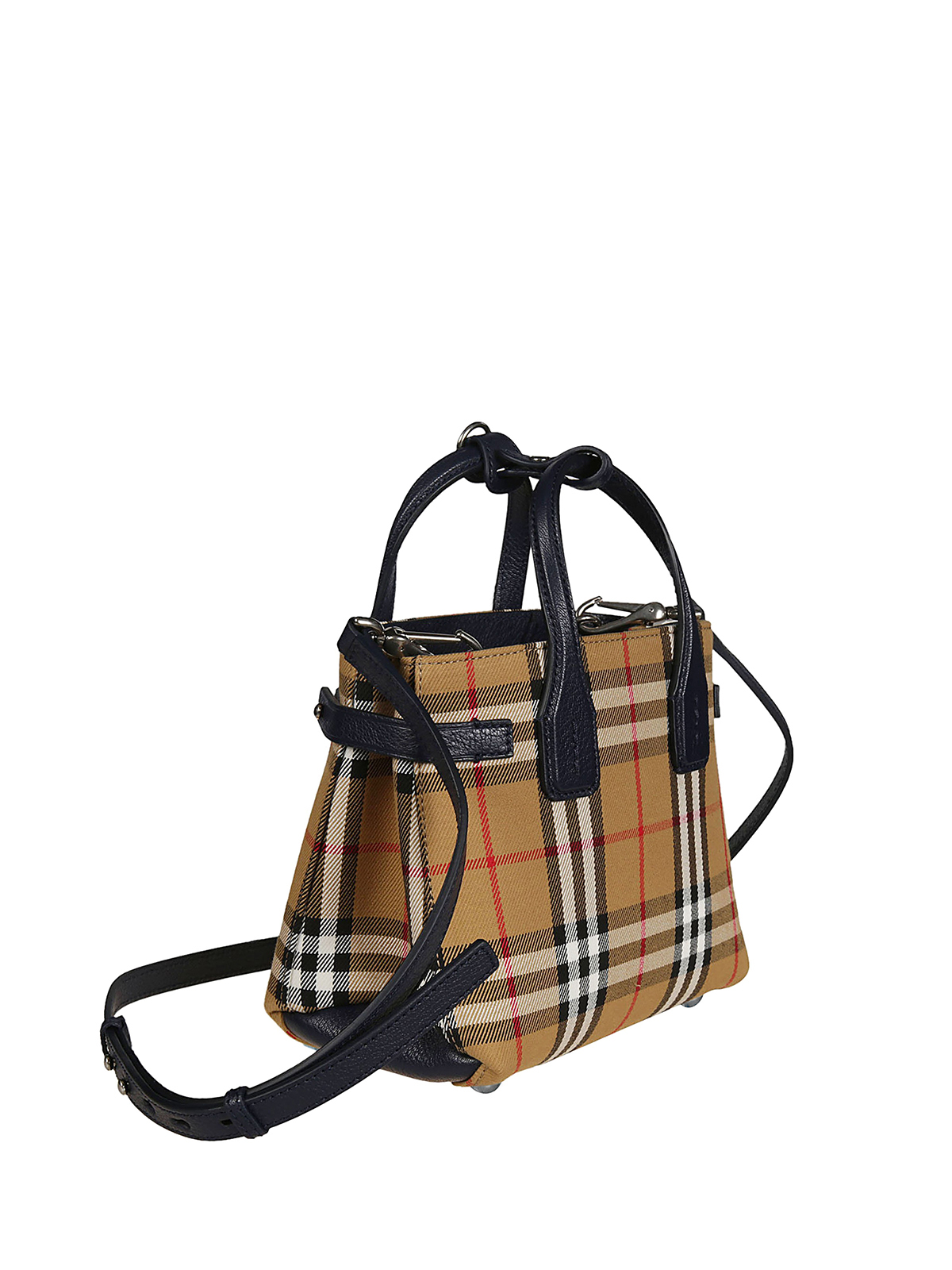 c60303715b5 BURBERRY: cross body bags online - Vintage Check and leather Baby Banner bag
