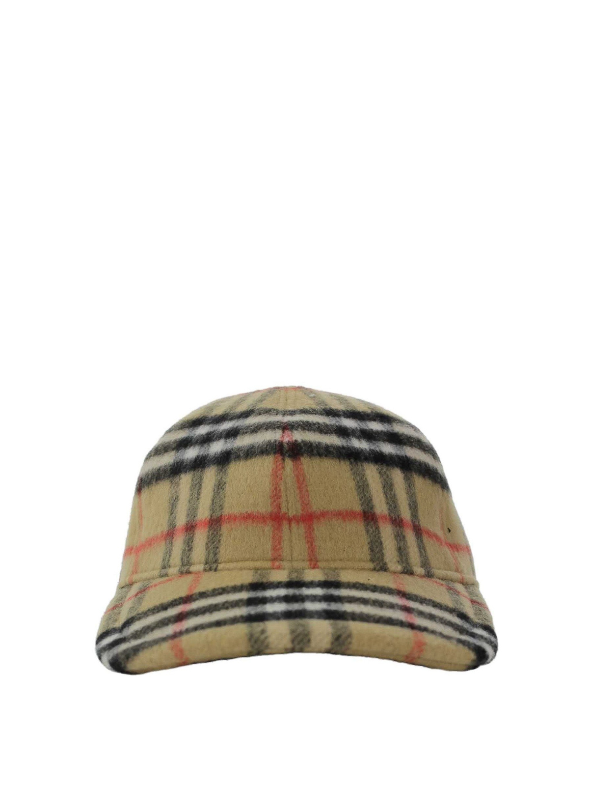 d262373ef Burberry - Vintage check boiled wool baseball cap - hats & caps ...