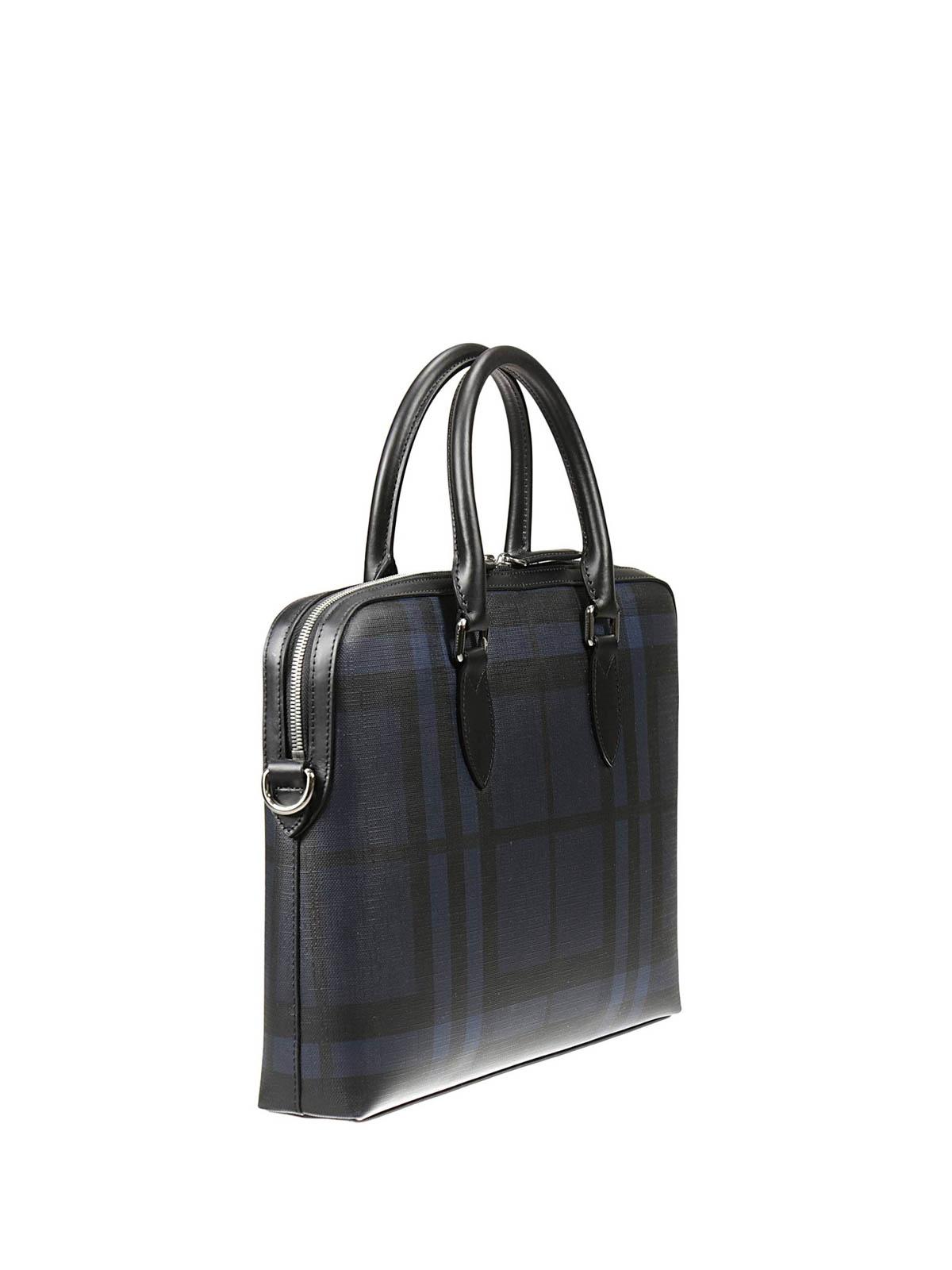 dac8dc40084 BURBERRY: laptop bags & briefcases online - Barrow London check briefcase