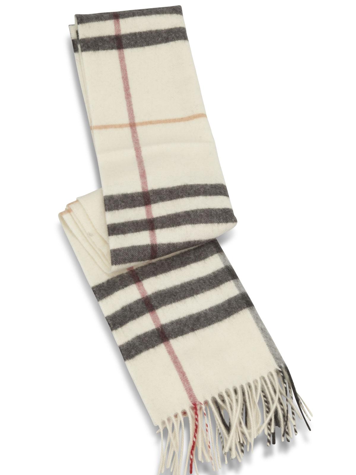 burberry cashmere halstørklæde