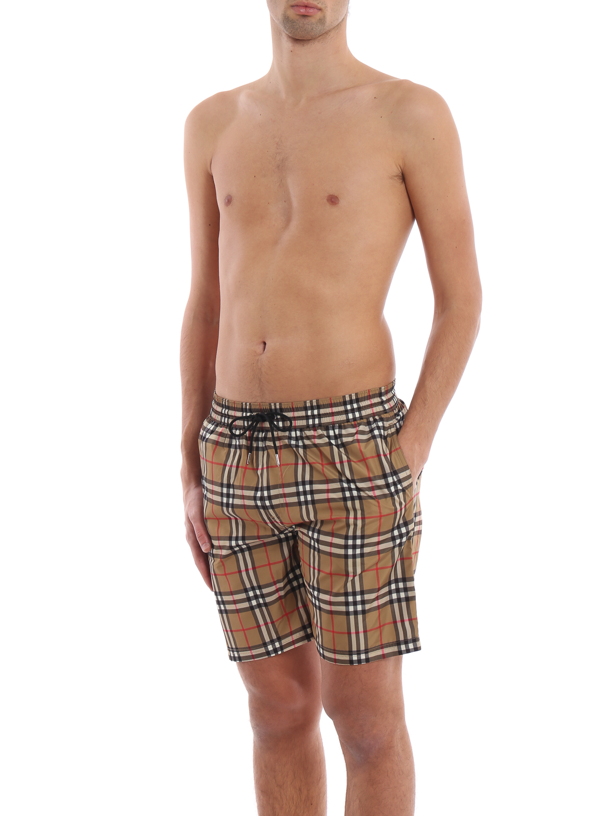 194ea2f07e BURBERRY: Swim shorts & swimming trunks online - Guildes antique yellow Check  swim shorts