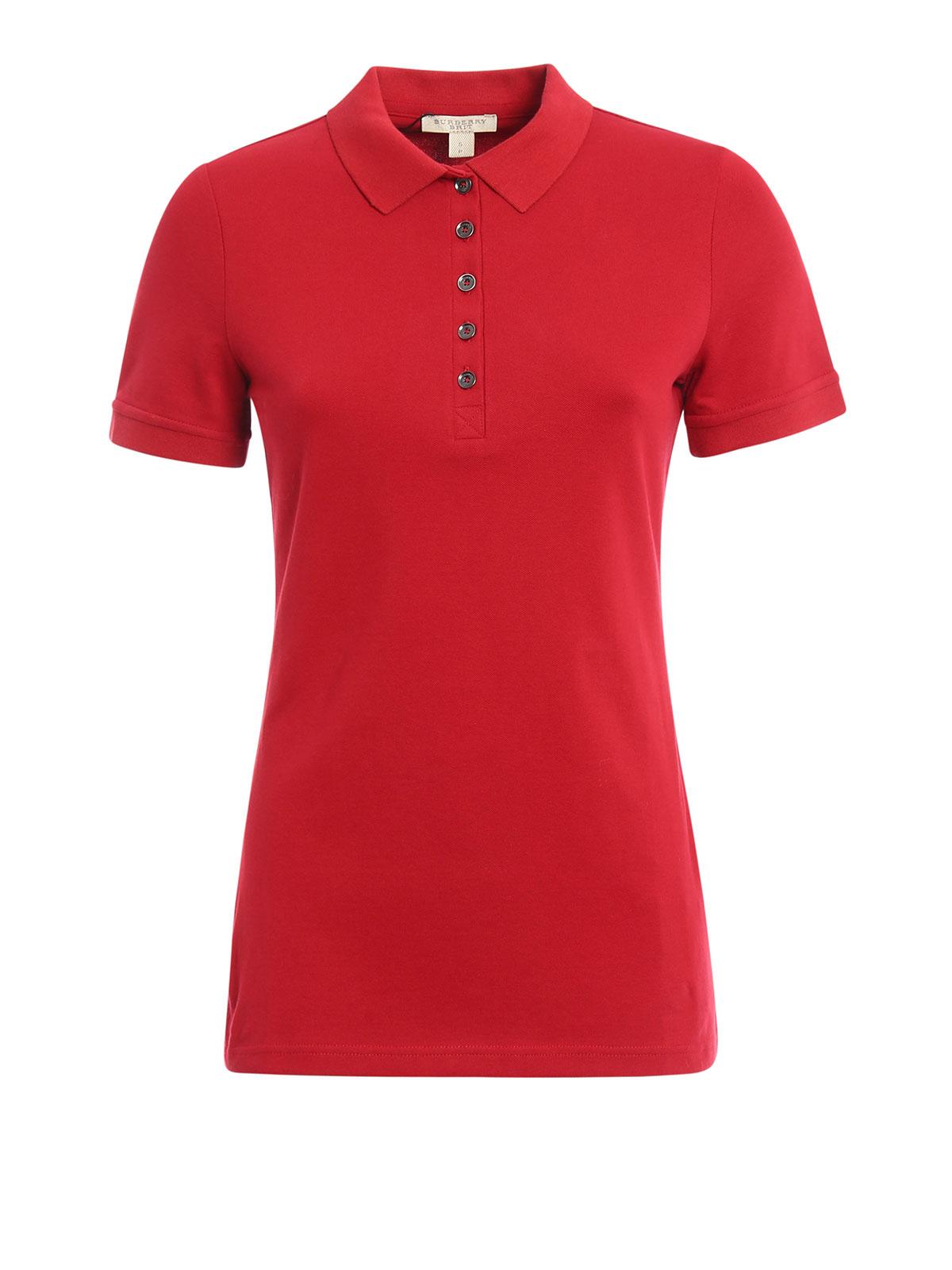 Burberry - Polo Rouge Pour Femme - Polos - 4557694   iKRIX.com de3c1f9192e5