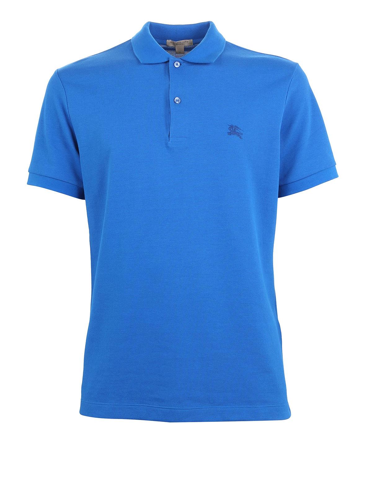 Burberry - Cotton pique polo shirt - polo shirts