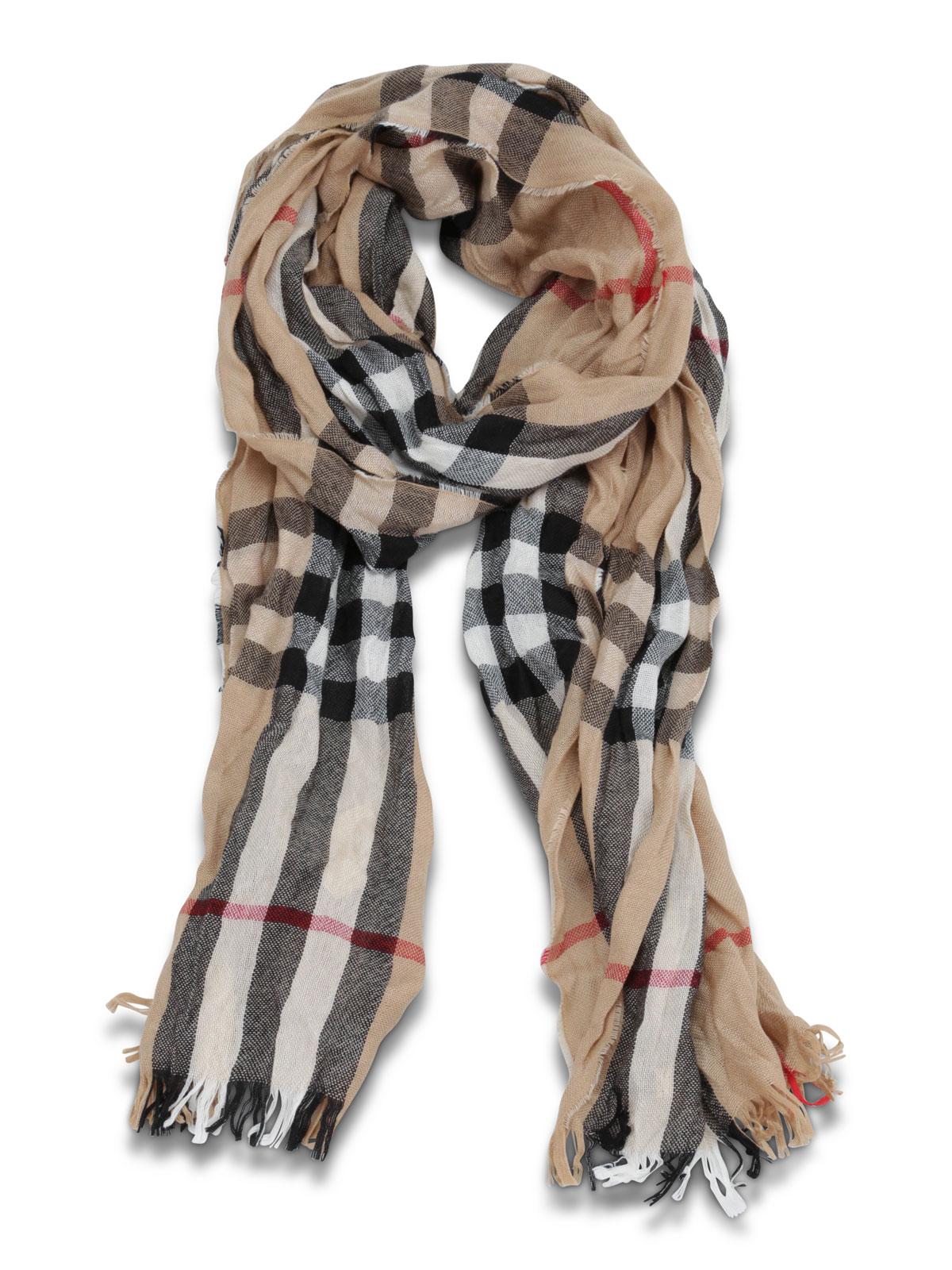 2aaf139b2173 Burberry - Sciarpa Check in lana - sciarpe e foulard - 3894350 ...
