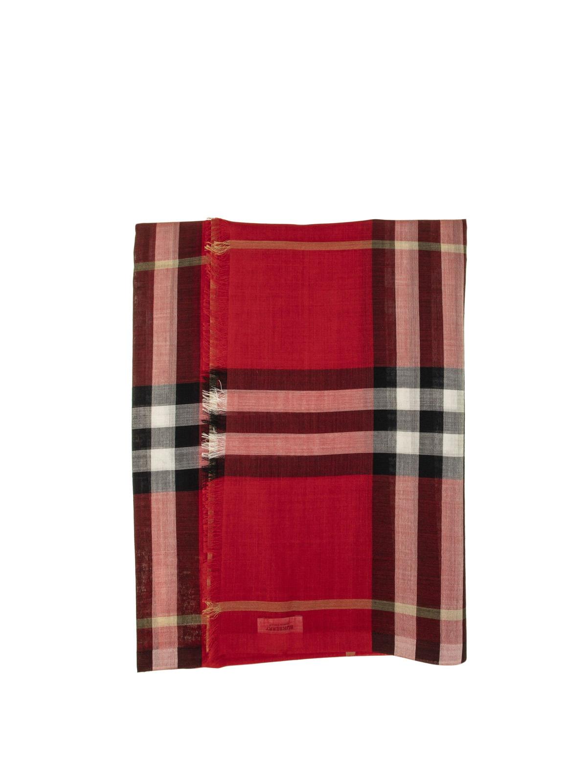 più recente 5e8c6 902dc Burberry - Sciarpa in lana e seta tartan - sciarpe e foulard ...