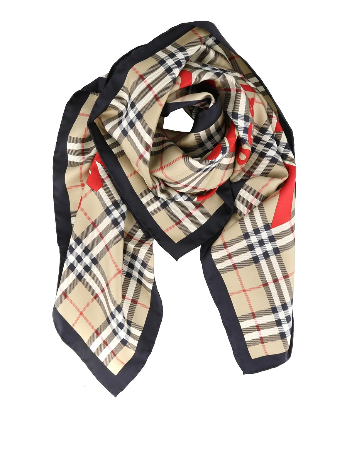 Burberry Foulard Vintage Check in seta sciarpe e foulard