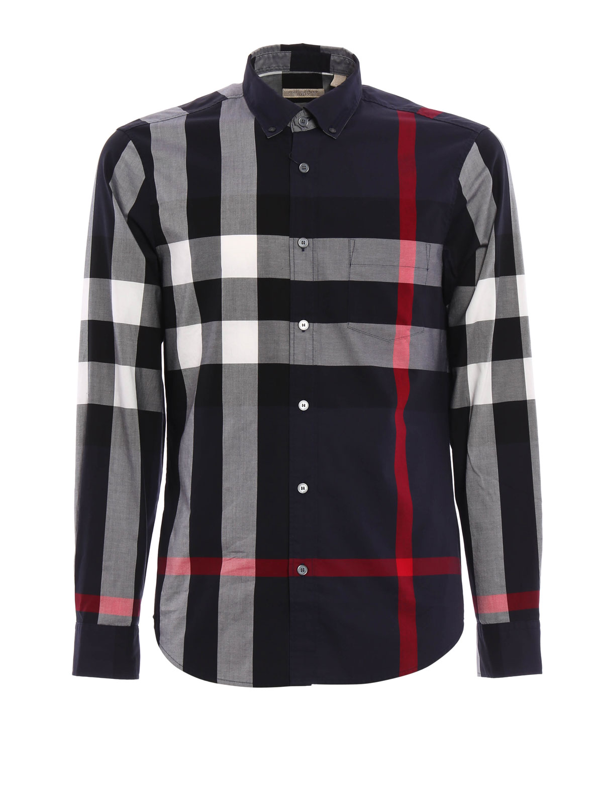 Fred Check Cotton Shirt By Burberry Shirts Ikrix