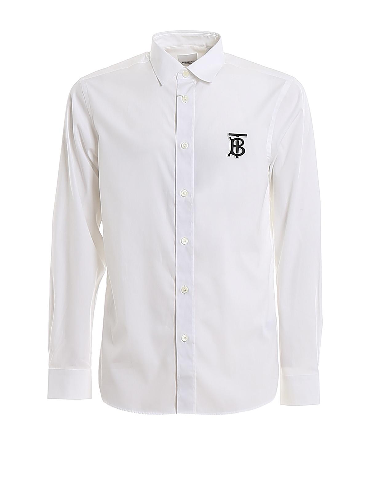 Burberry Tops Spenser TB monogram embroidery shirt