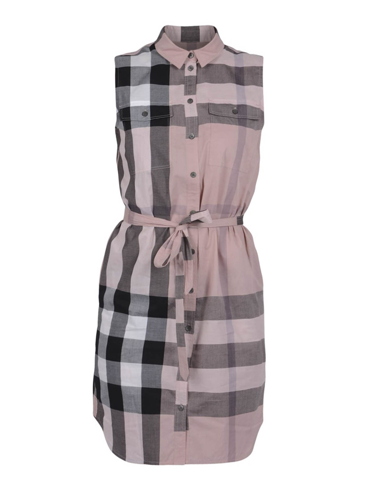 Check print shirt dress by burberry short dresses ikrix for Burberry check shirt dress