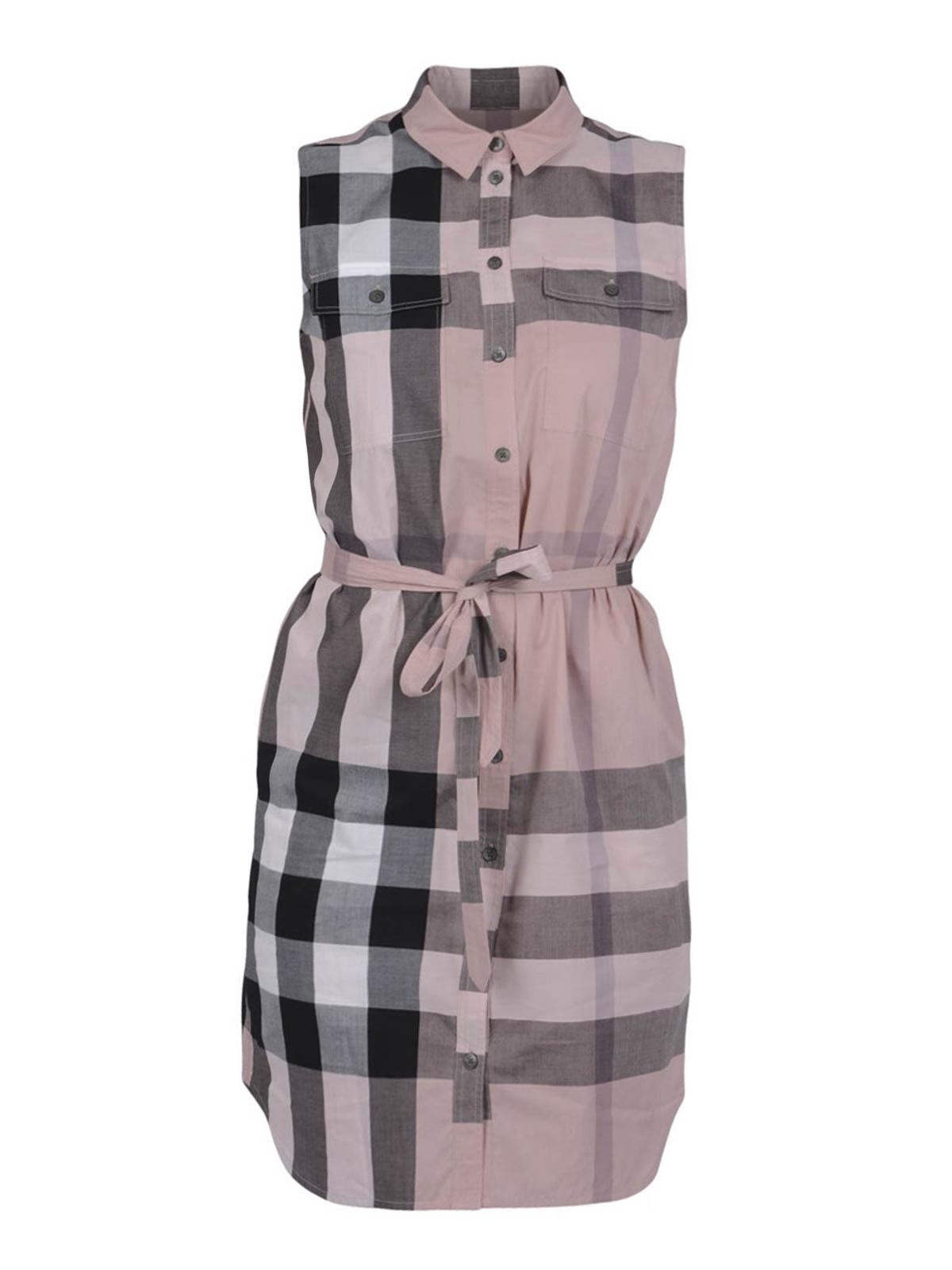 Check Print Shirt Dress By Burberry Short Dresses Ikrix