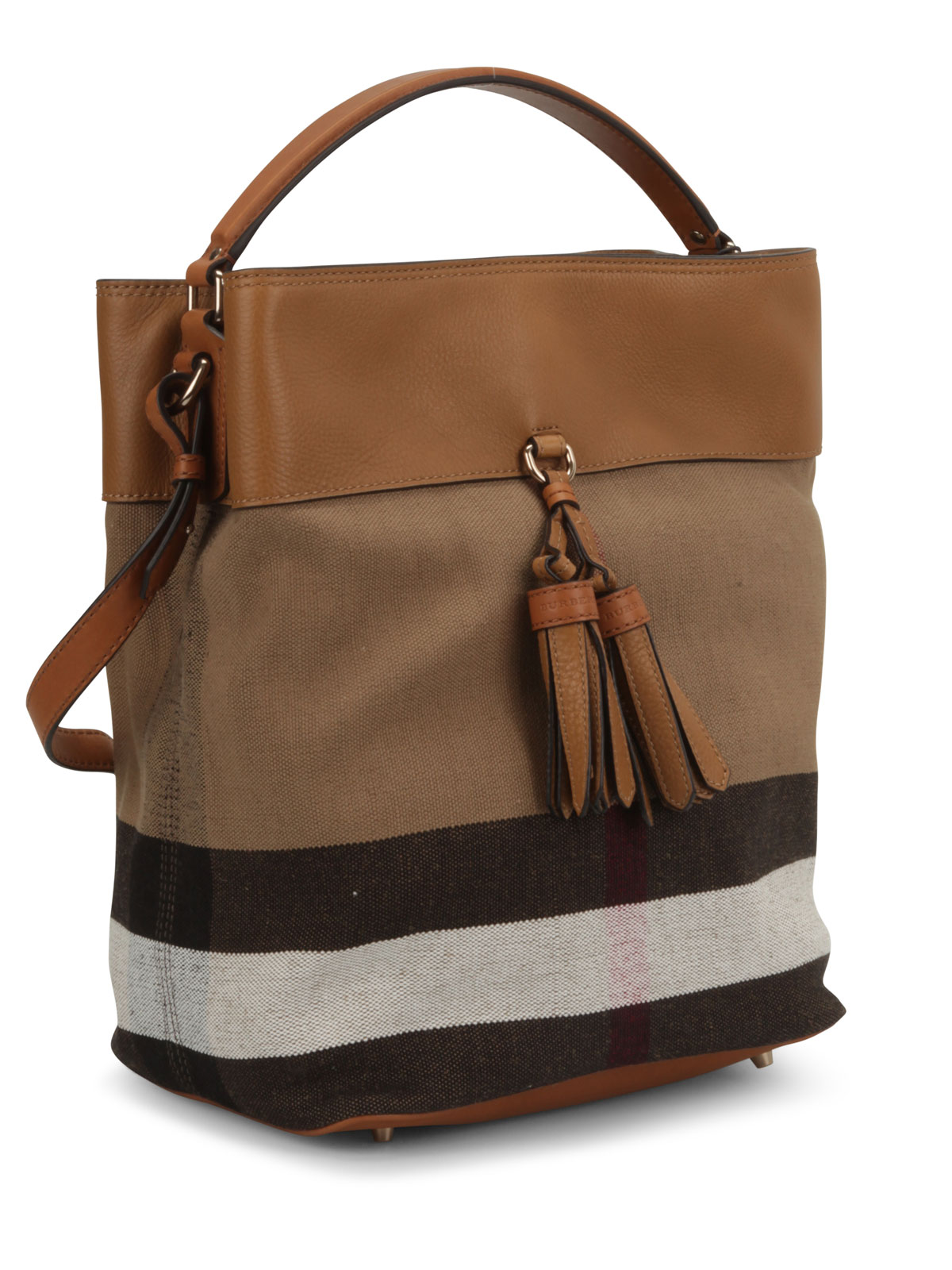 Susanna Canvas Check Hobo Bag By Burberry Shoulder Bags