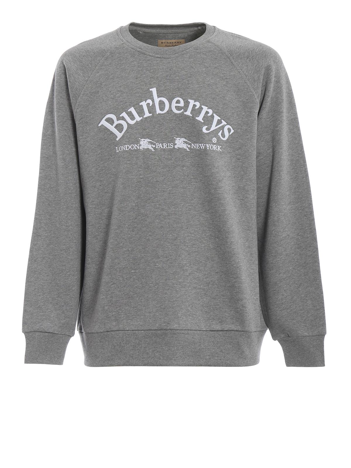 Schuhwerk online professionelles Design Burberry - Sweatshirt - Grau - Sweatshirts und Pullover ...