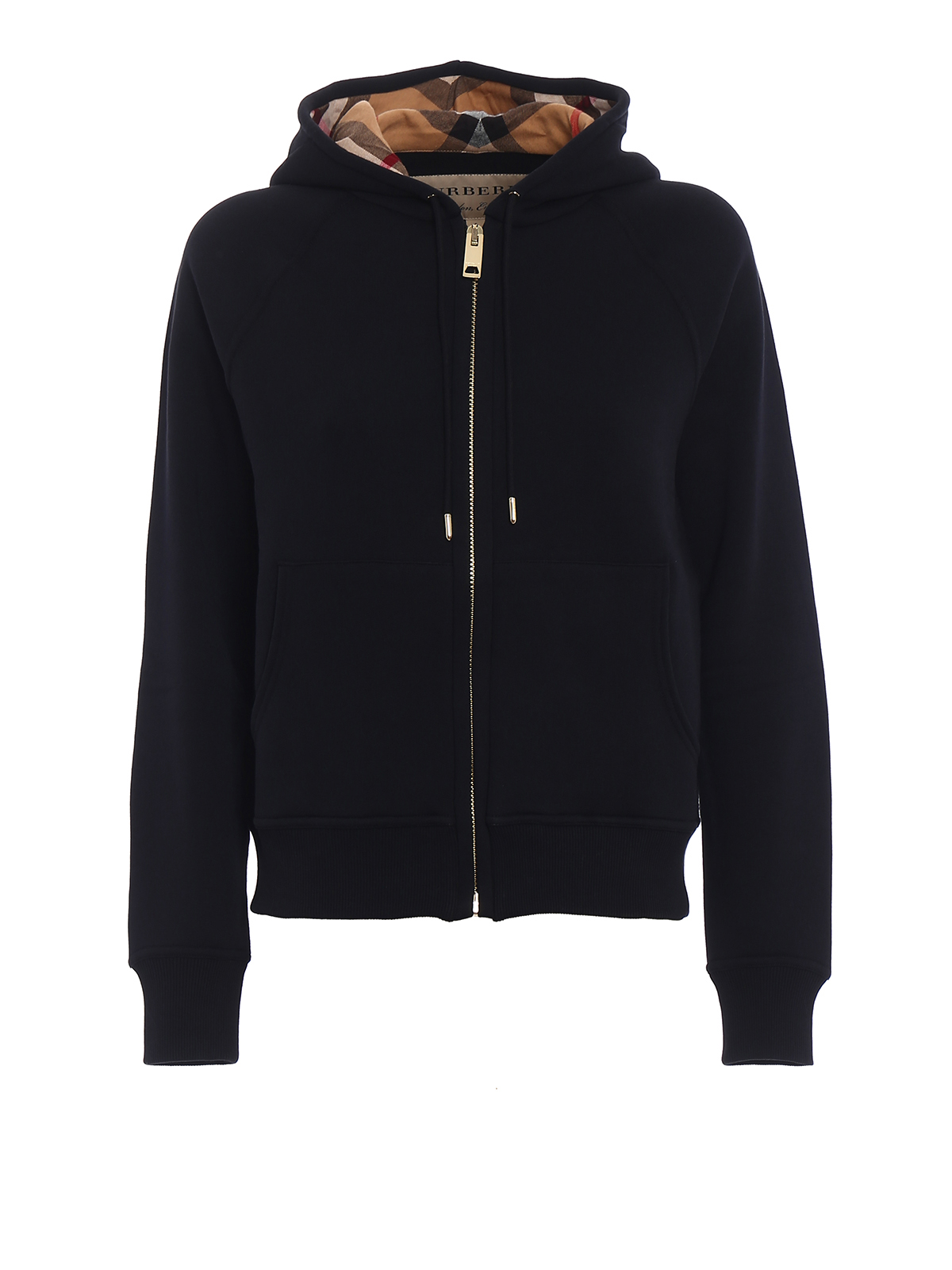 2b2fec54f9d8 Burberry - Lined front black cotton hoodie - Sweatshirts   Sweaters ...