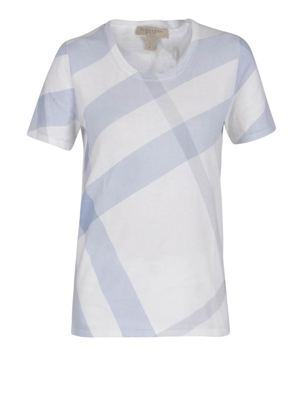 Check print t shirt by burberry t shirts ikrix for Print photo on shirt
