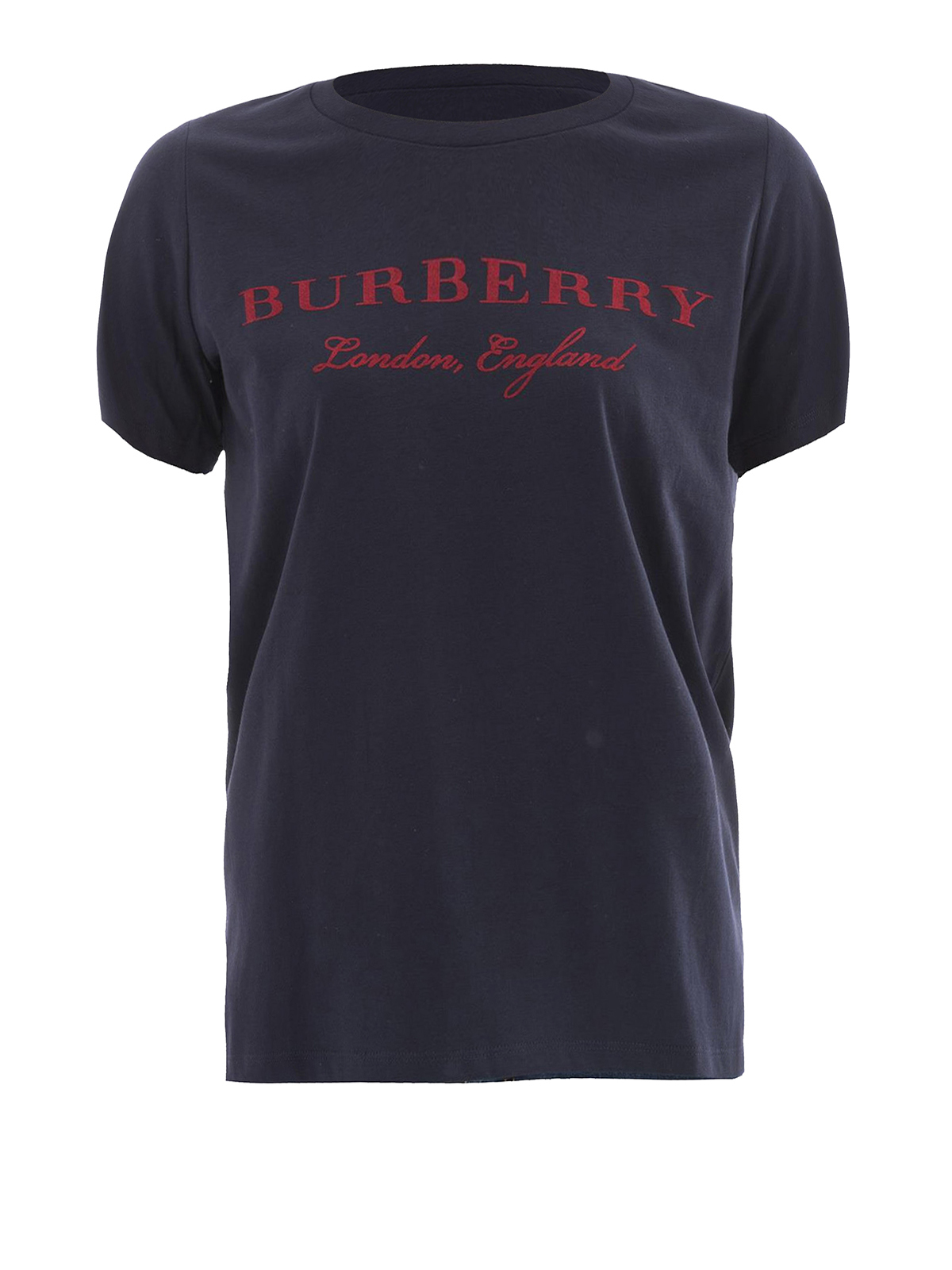 Logo print scoop neck cotton tee by burberry t shirts for Shirts with logo print