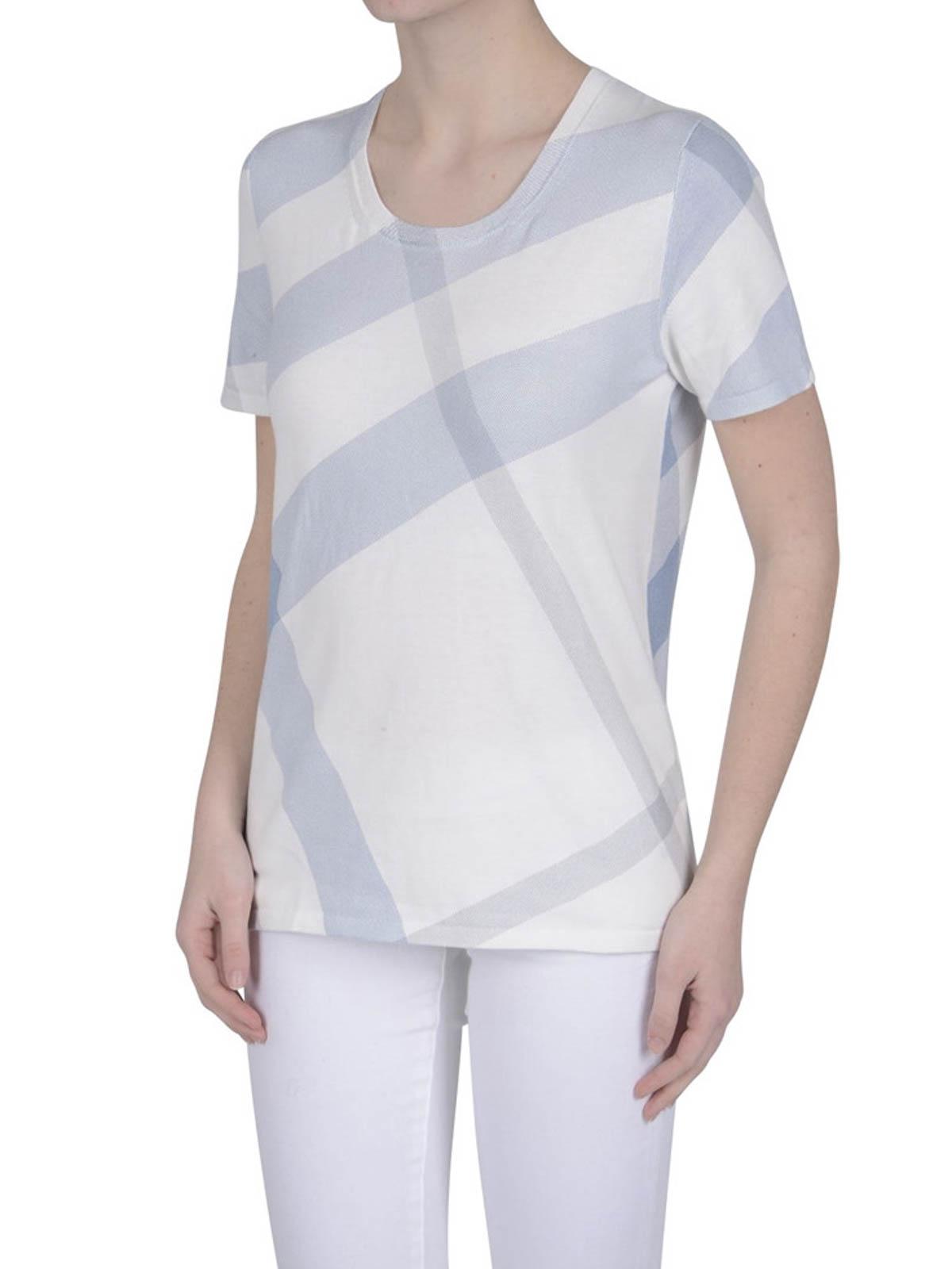 Check Print T Shirt By Burberry T Shirts Ikrix