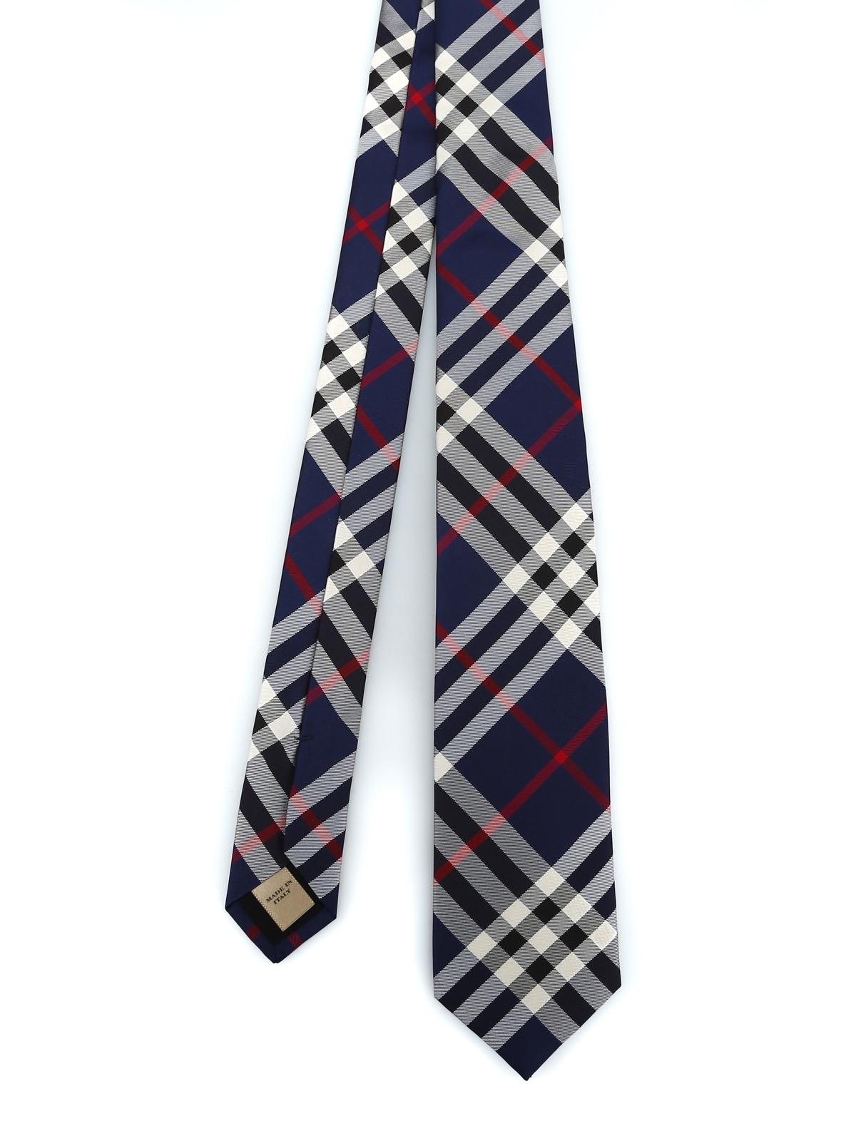 964d3a17560b Burberry - Manston blue Vintage check silk tie - ties & bow ties ...
