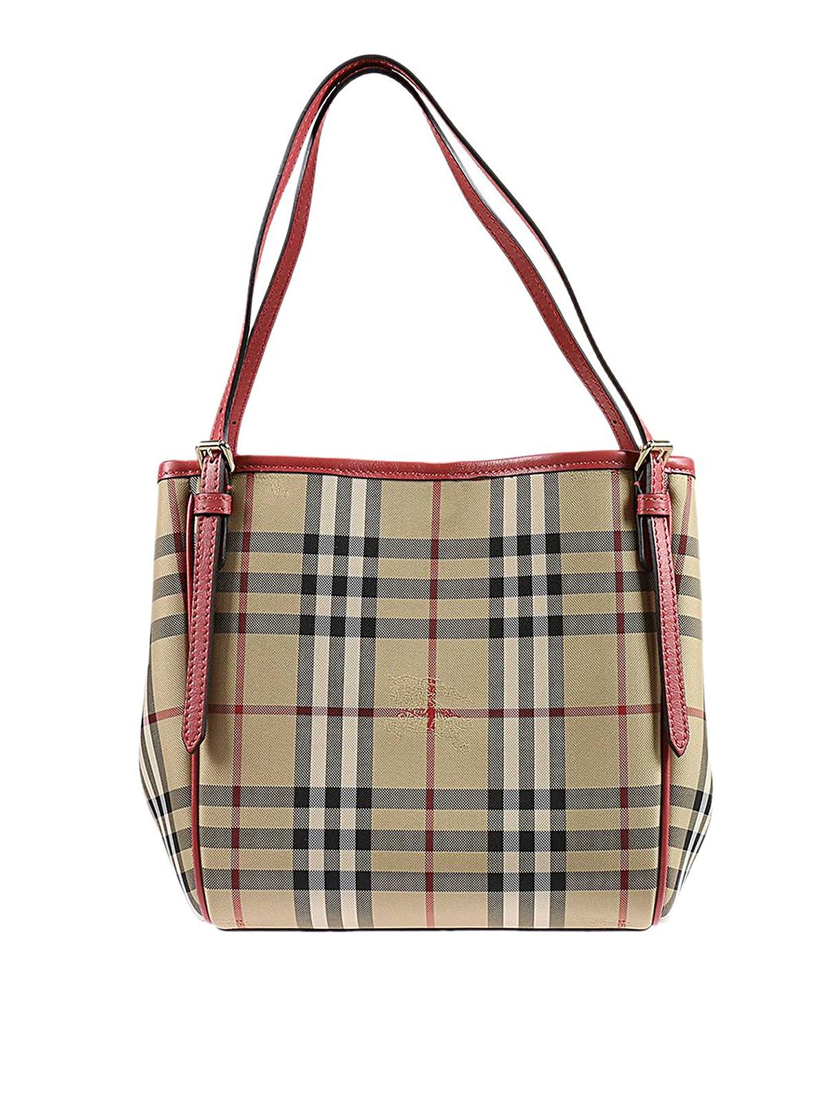 aeb2e0124779 Burberry - Mini Canter Horseferry check tote - totes bags - 40223701