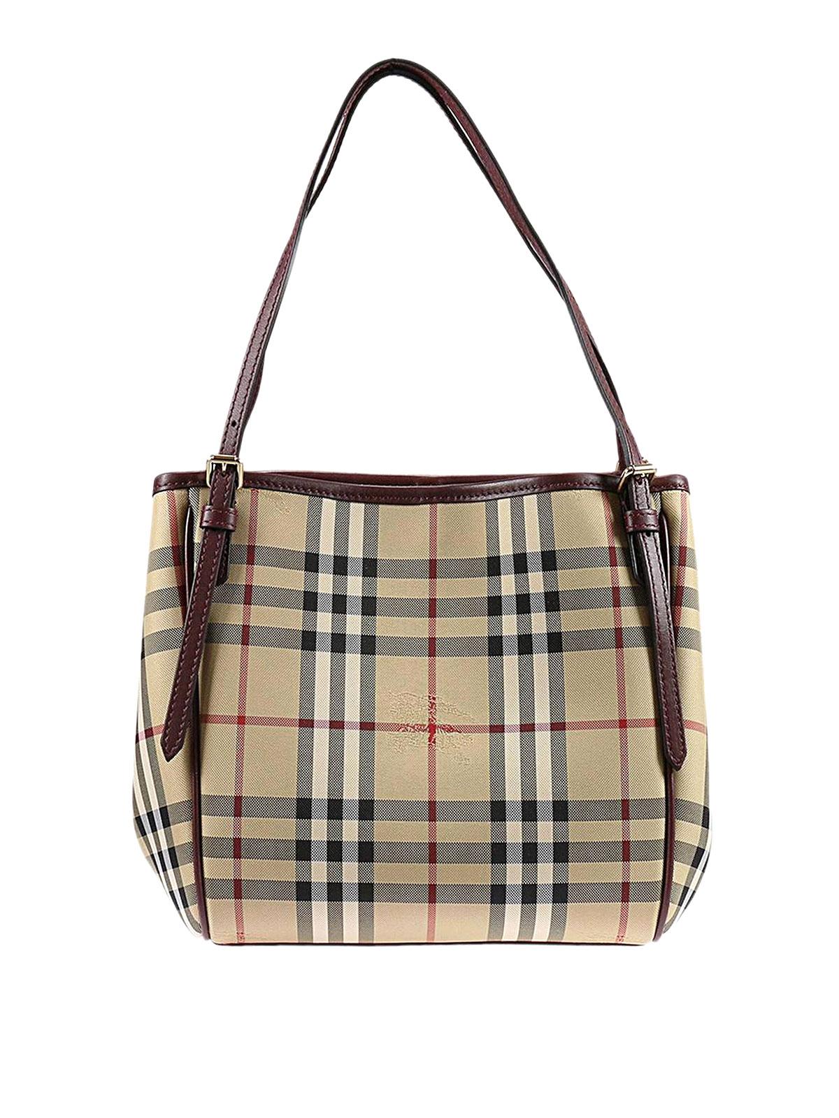 2ad1e006c50b Burberry - Mini Canter Horseferry check tote - totes bags - 40223711