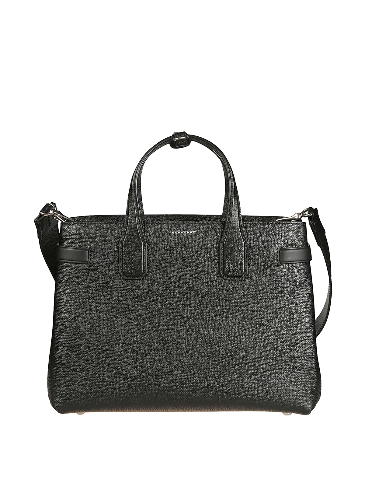 7f5e940253d5 Burberry - The Medium Banner black leather tote - totes bags - 8006323