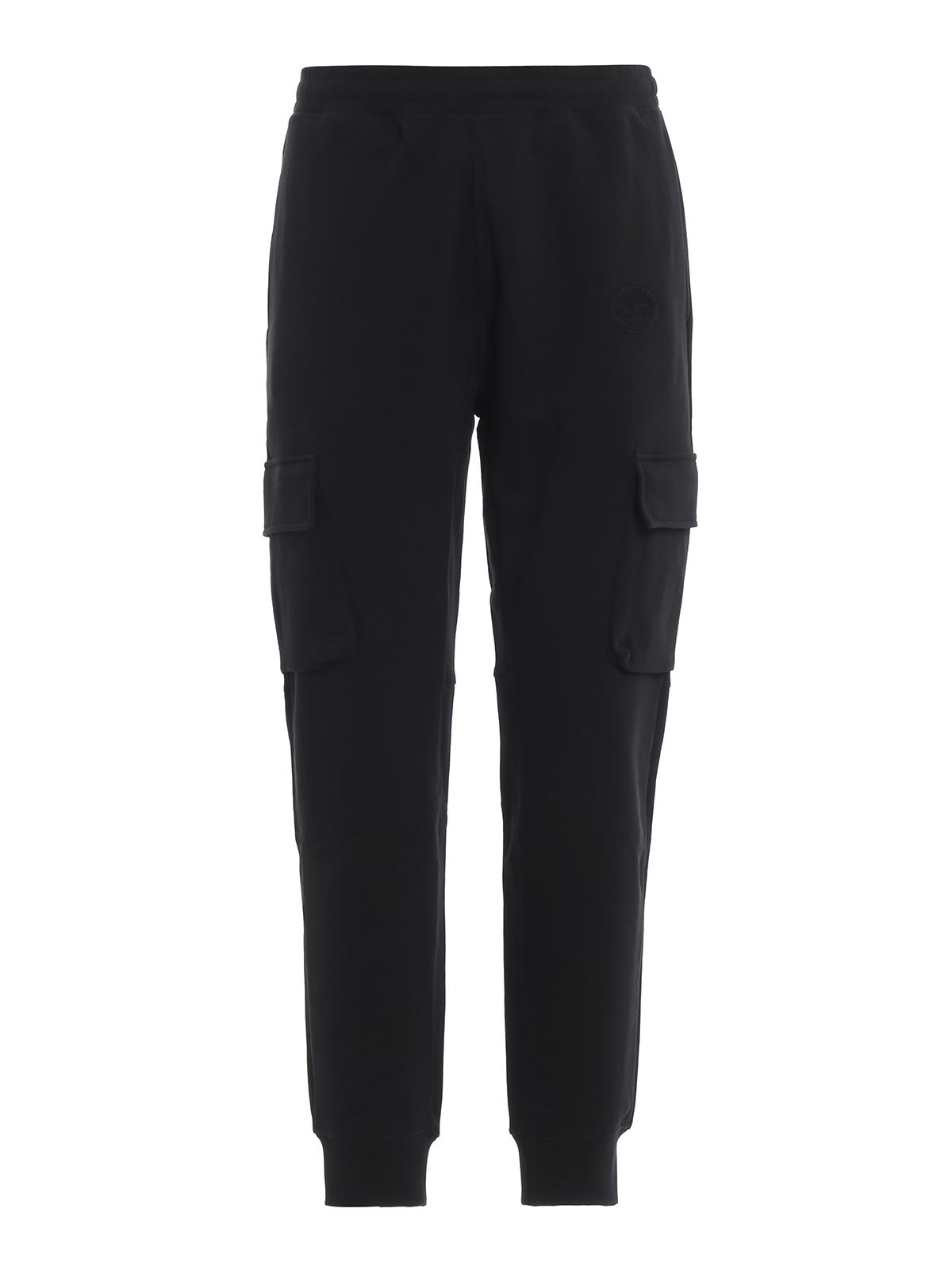 BURBERRY  tracksuit bottoms - Justley cotton fleece cargo track pants 0dc67a58aae