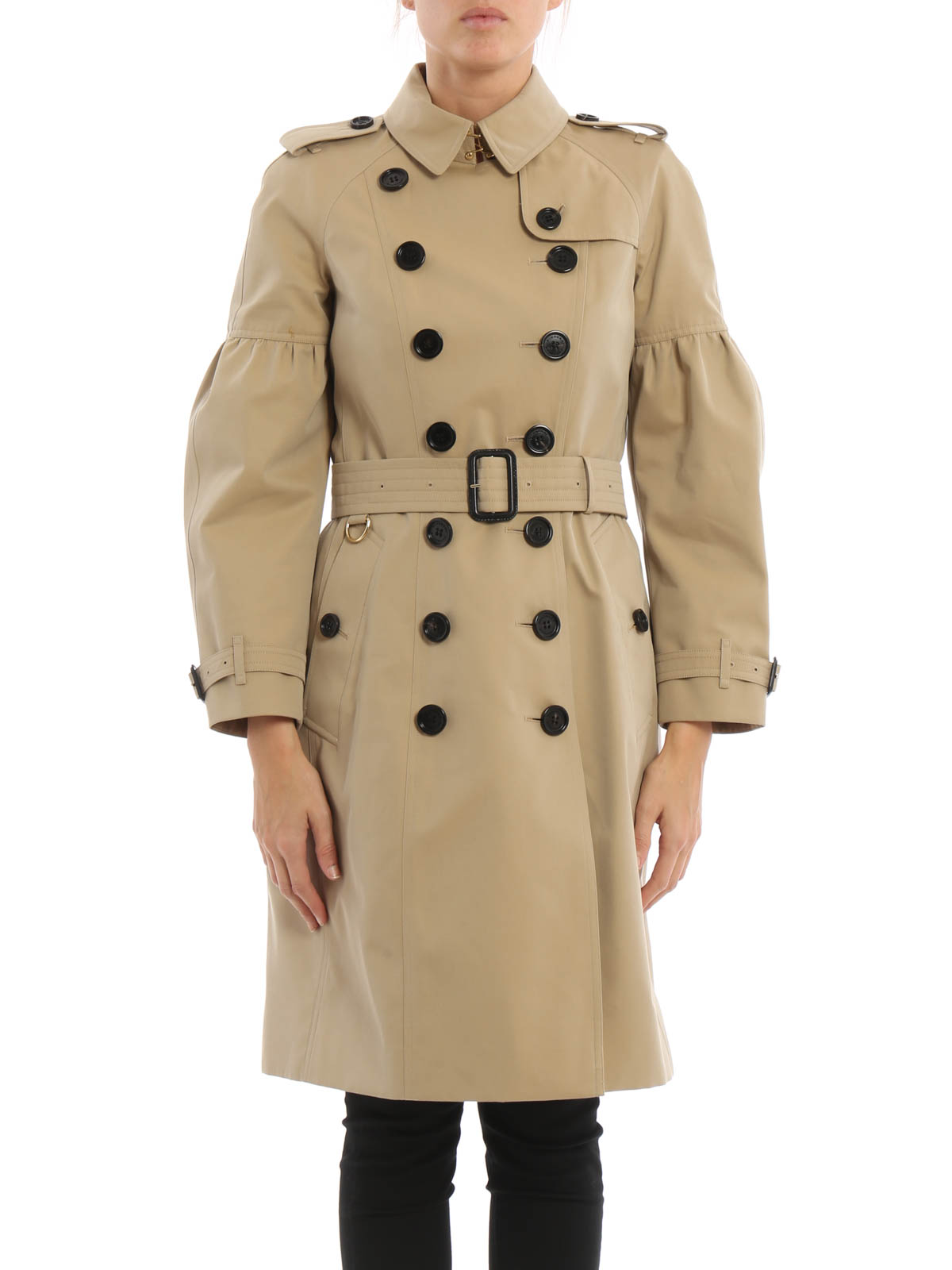 puffball sleeve redhill trench coat by burberry trench coats ikrix. Black Bedroom Furniture Sets. Home Design Ideas
