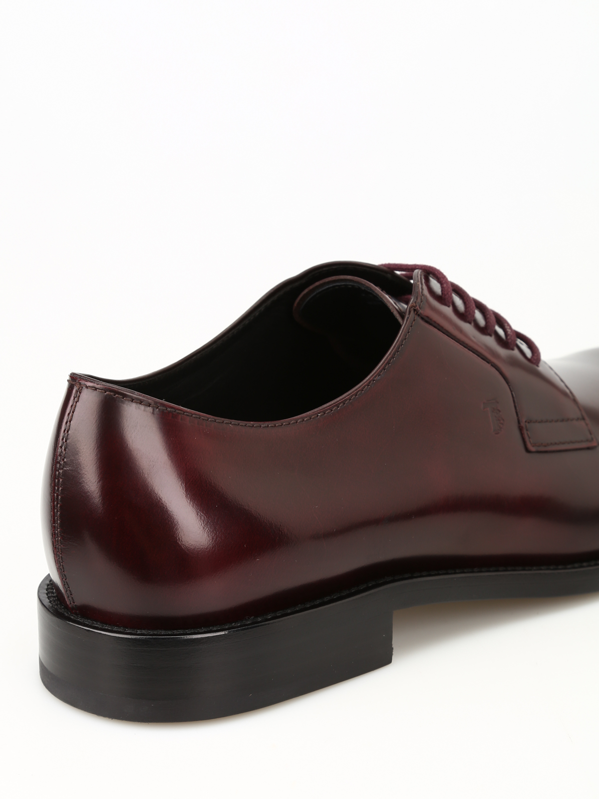 f37b3032573 Tod'S - Burgundy leather Derby shoes - classic shoes ...