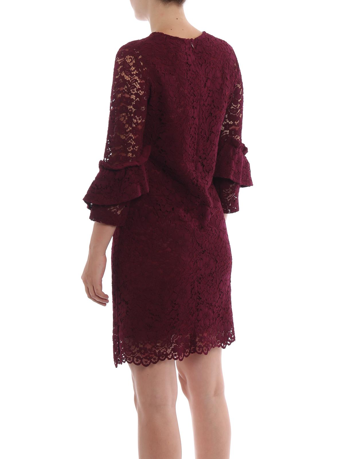 finest selection d0fd7 60014 Blugirl - Abito gioiello bordeaux in pizzo macramè - abiti ...