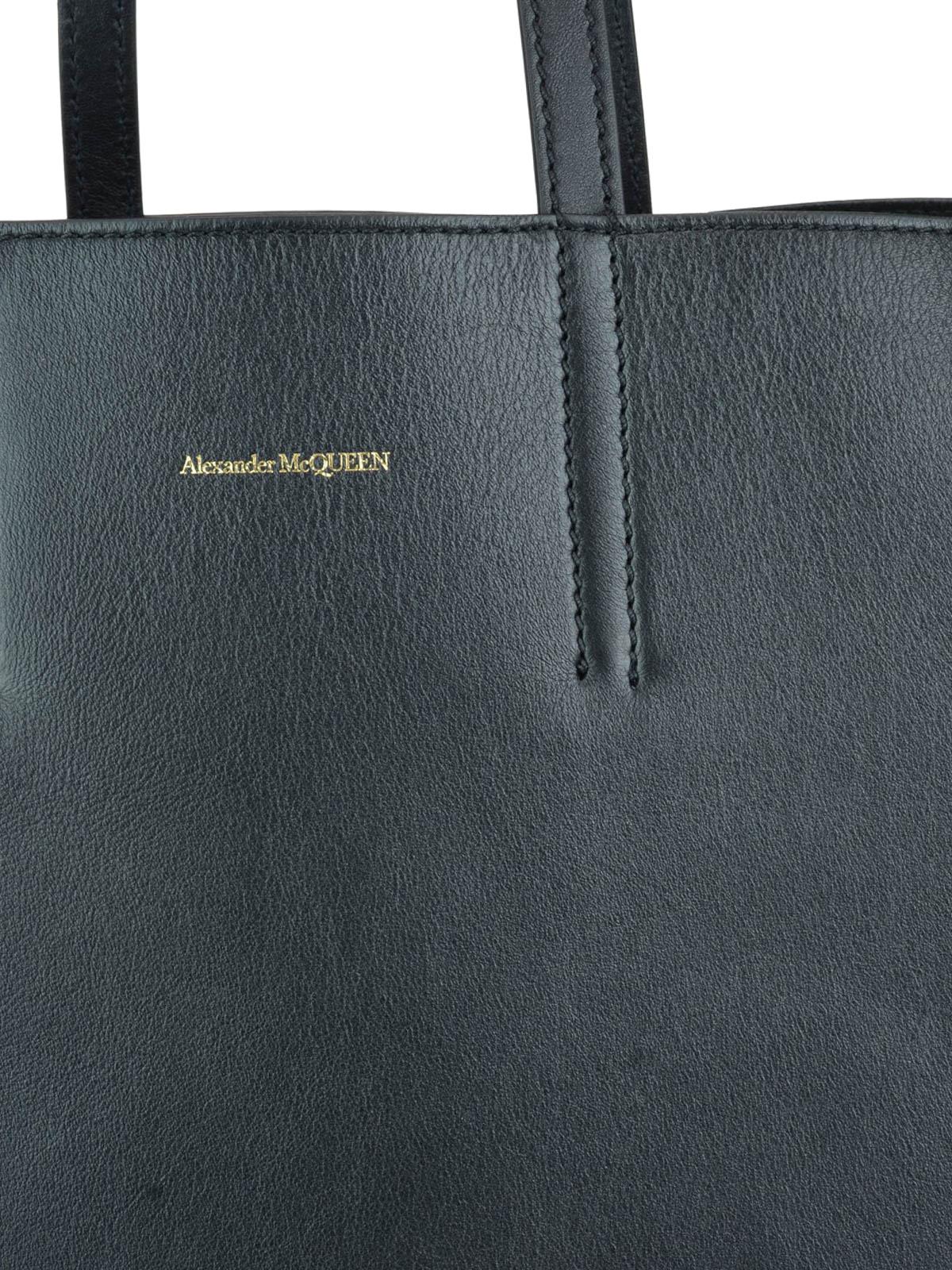 goditi un grande sconto aliexpress acquista lusso Alexander Mcqueen - Borsa shopping Butterfly nera in pelle ...