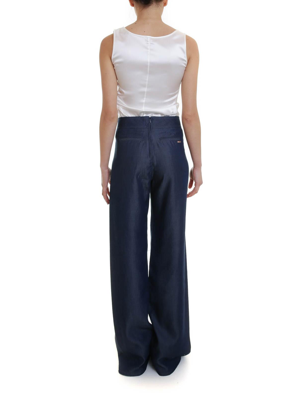 Blumarine Pantaloni larghi con bottoni pantaloni casual