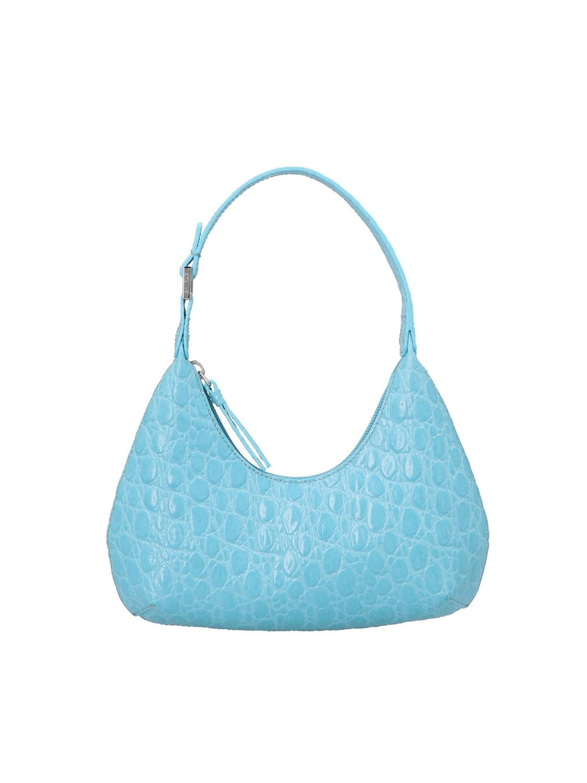 By Far BABY AMBER CROCO BAG IN LAGOON COLOR