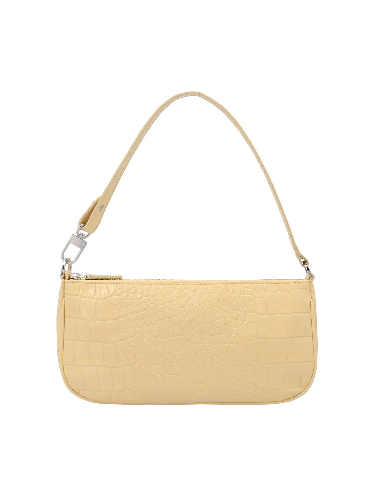 By Far CROCO PRINT RACHEL BAG IN WHEAT COLOR