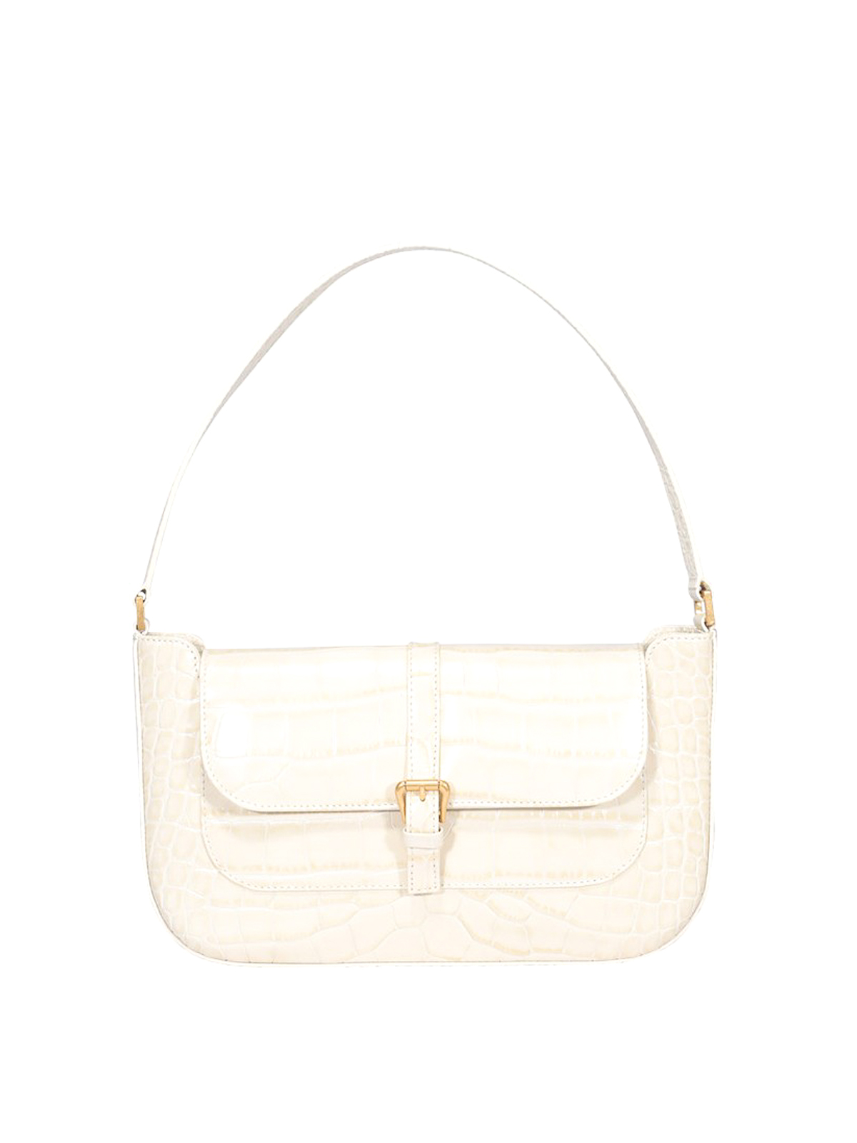 By Far MIRANDA CROC PRINT SHOULDER BAG
