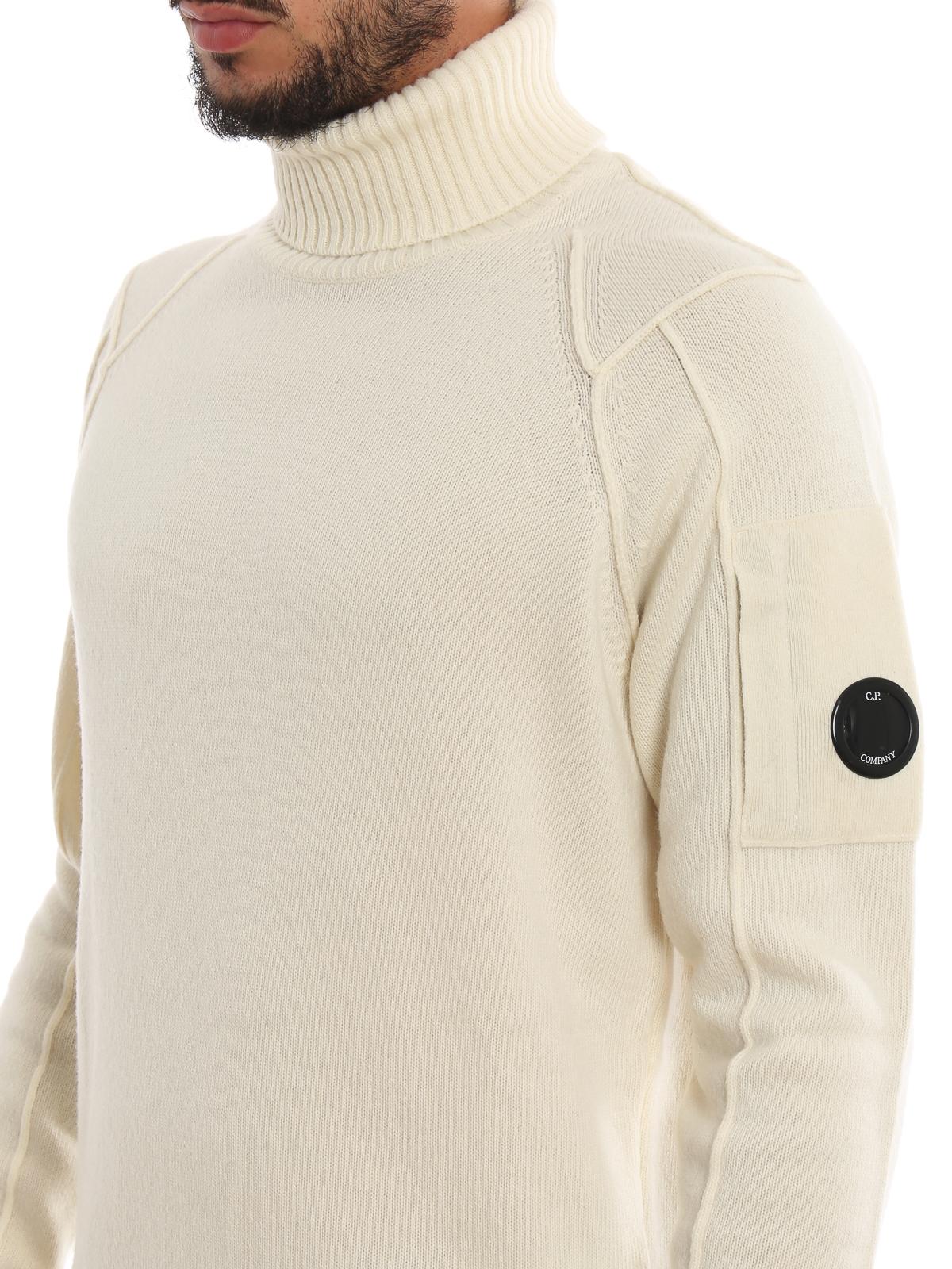 comprare a buon mercato economico per lo sconto a basso costo C.P. Company - Maglione a collo alto in lana con lente - maglia a ...