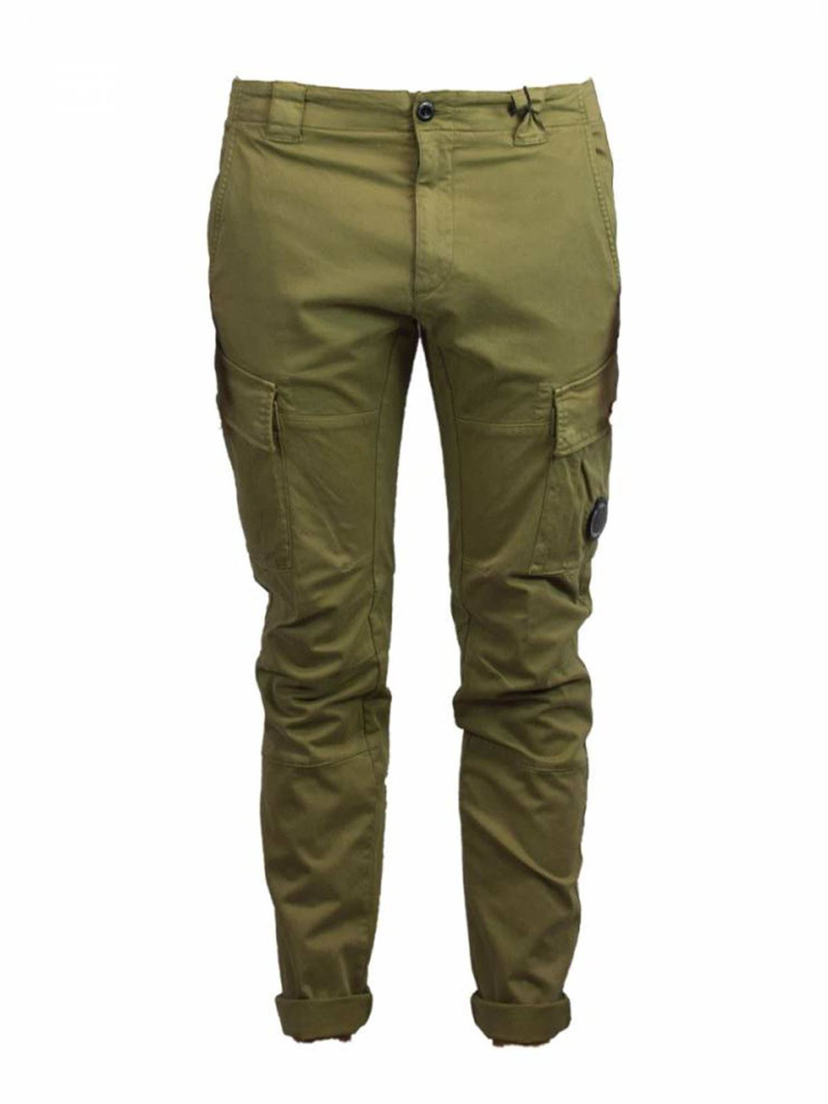 C.P. COMPANY CARGO PANTS IN GREEN
