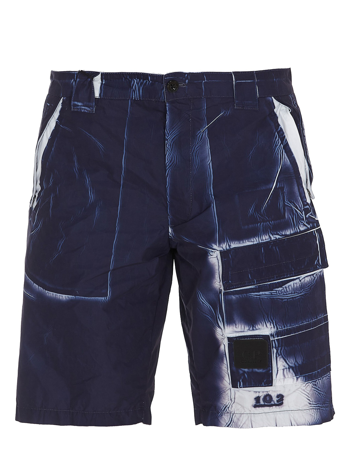 C.p. Company MARBLE EFFECT BERMUDA TROUSERS
