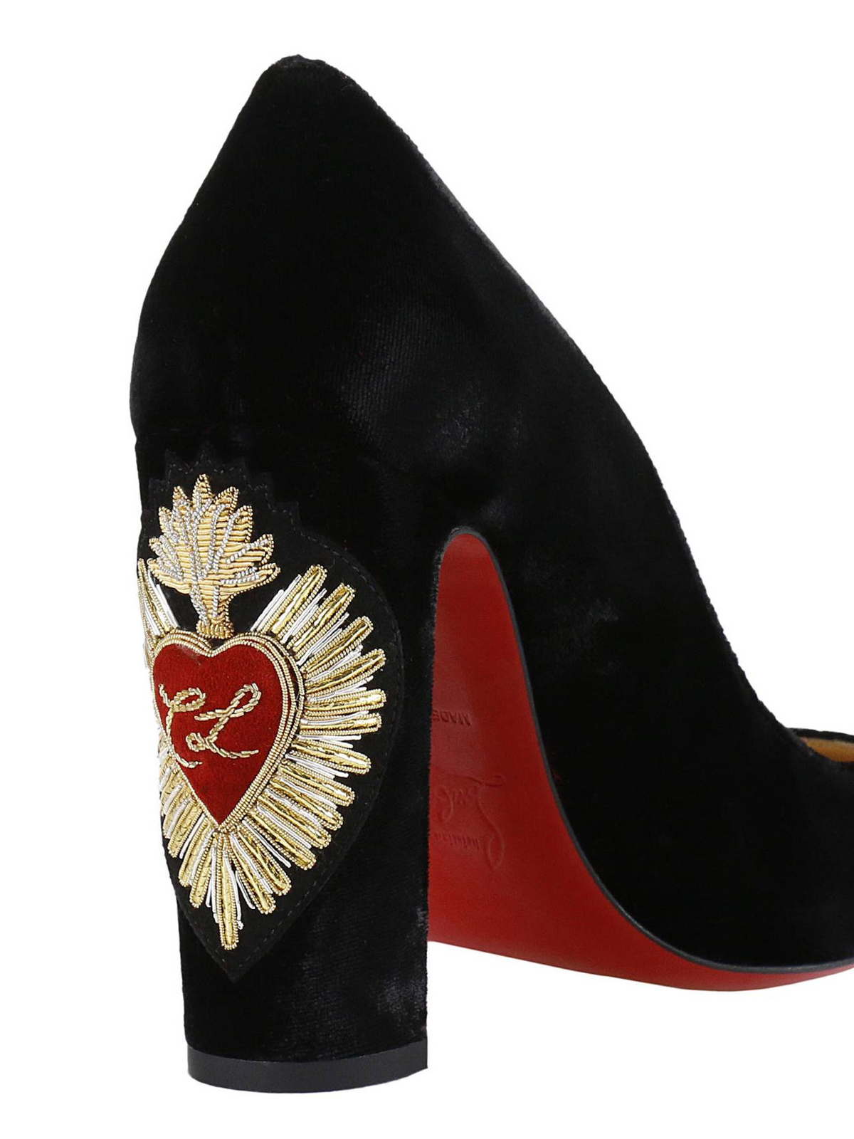 best service 88ba5 d8419 Christian Louboutin - Cadrilla Corazon embroidered shoes ...