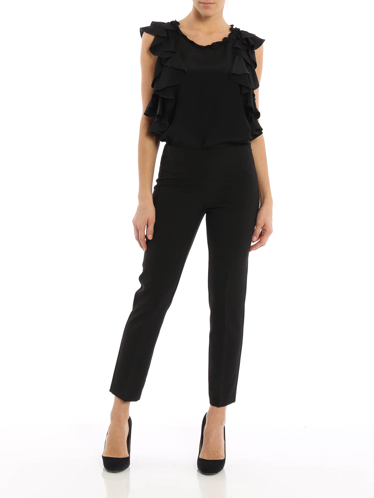 76ade4bc13 Blumarine - Pantalón De Vestir Negro Para Mujer - Pantalones de ...