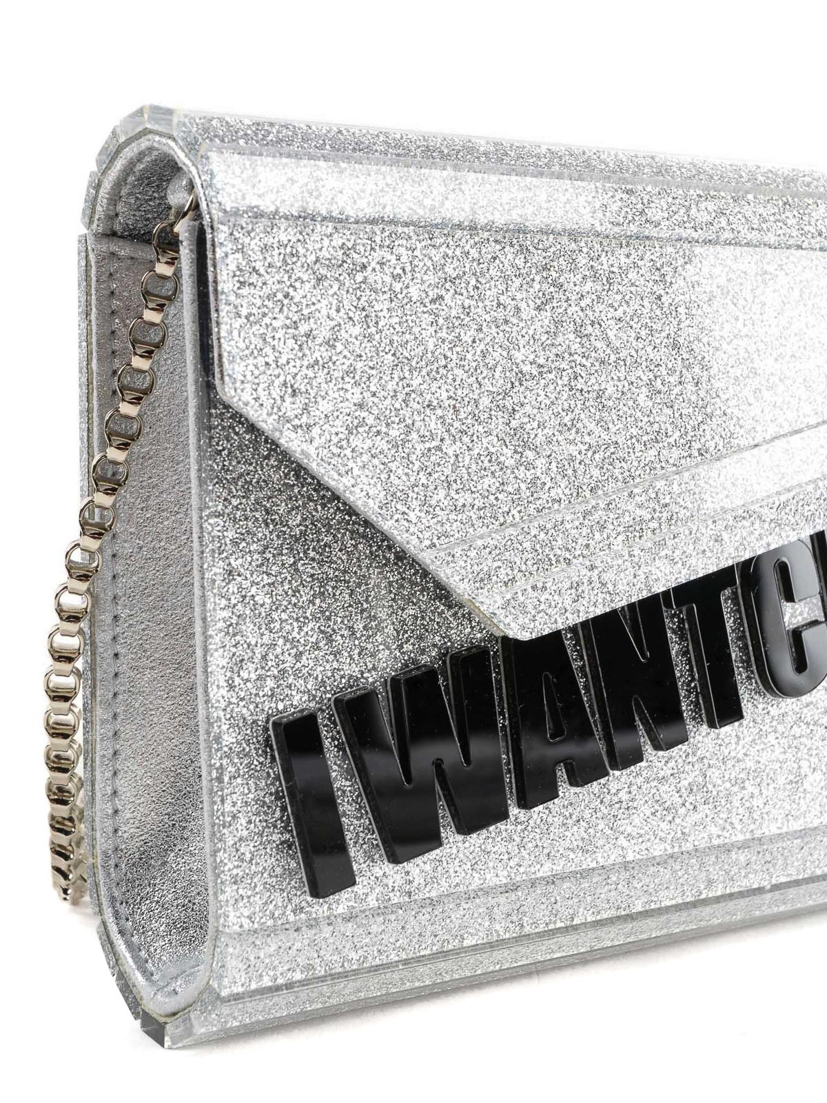 eb08b84f98615 Jimmy Choo - Candy-I Want Choo silver glitter clutch - clutches ...