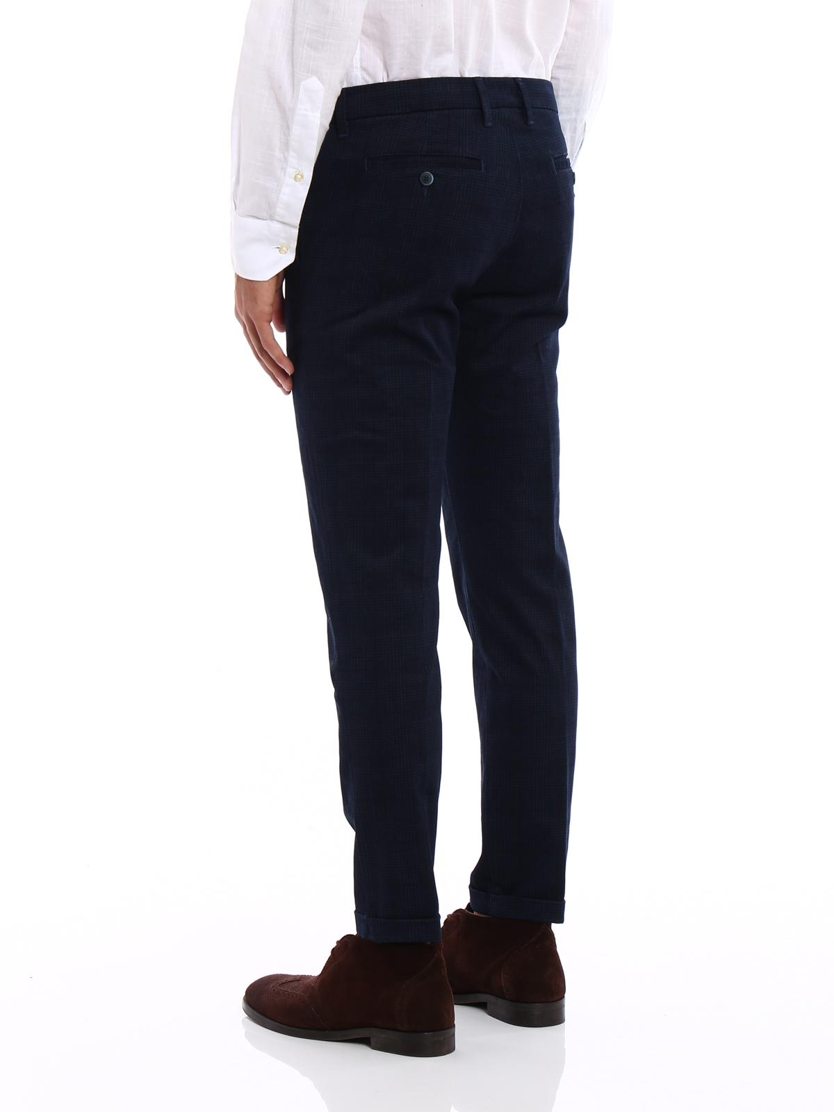 quality design e260e 962e2 Fay - Pantaloni chino capri con motivo - pantaloni casual ...
