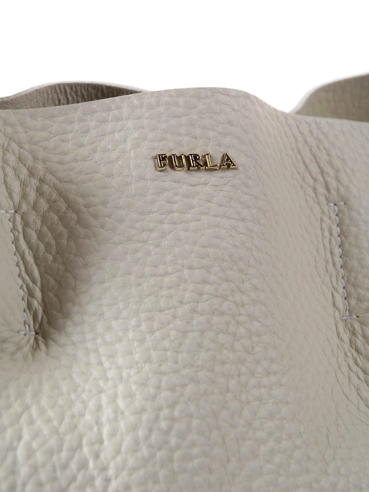 Furla Capriccio M White Leather Hobo Bag Shoulder Bags