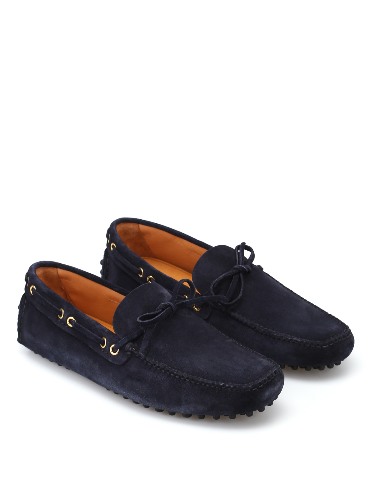 9c8295f661a99 Car Shoe - Blue suede driver shoes - Loafers & Slippers - KUD006 LVA ...