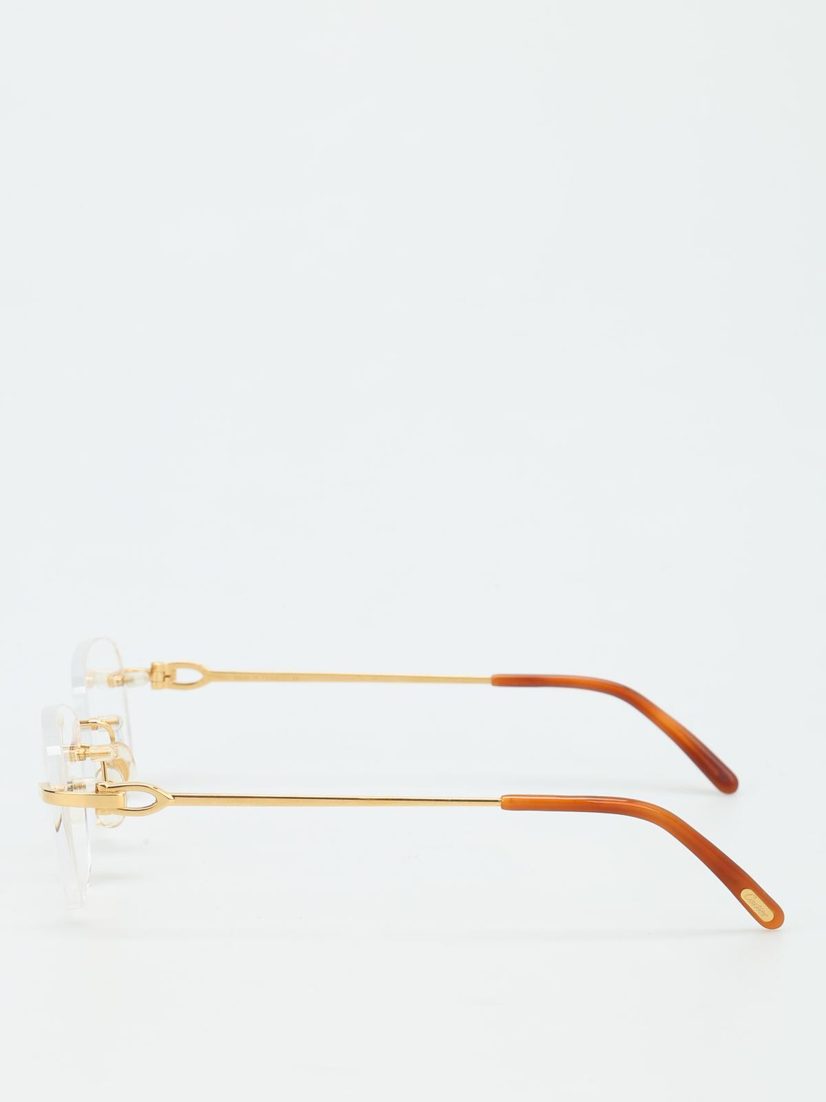aaea56540747 Cartier - C Décor optical glasses - glasses - CARTIERHARMATTANGOLD