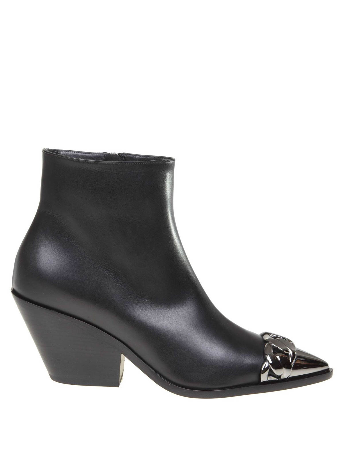 Casadei AGYNESS BLACK NAPPA ANKLE BOOTS