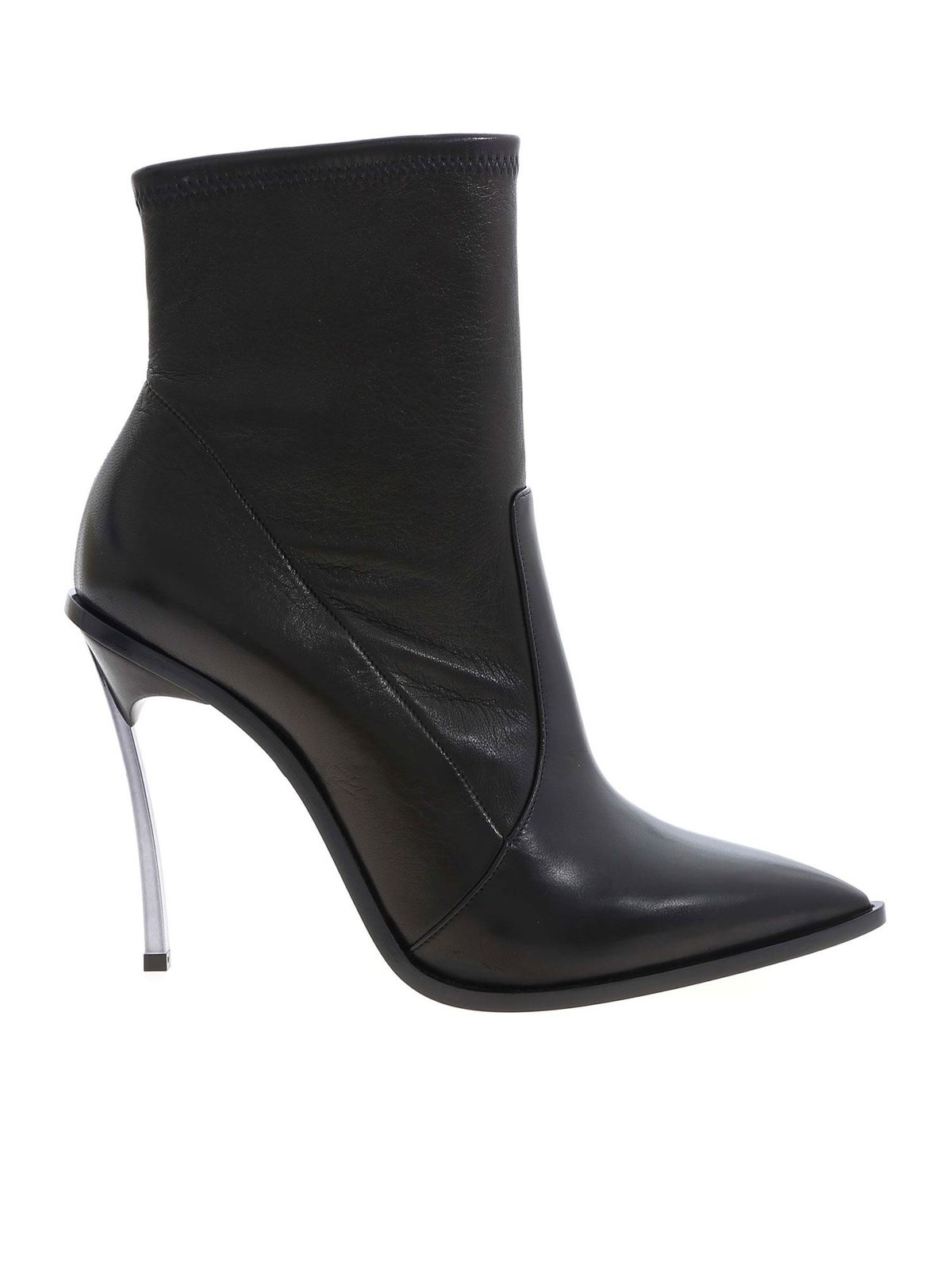 Casadei MAXI BLADE ANKLE BOOTS IN BLACK