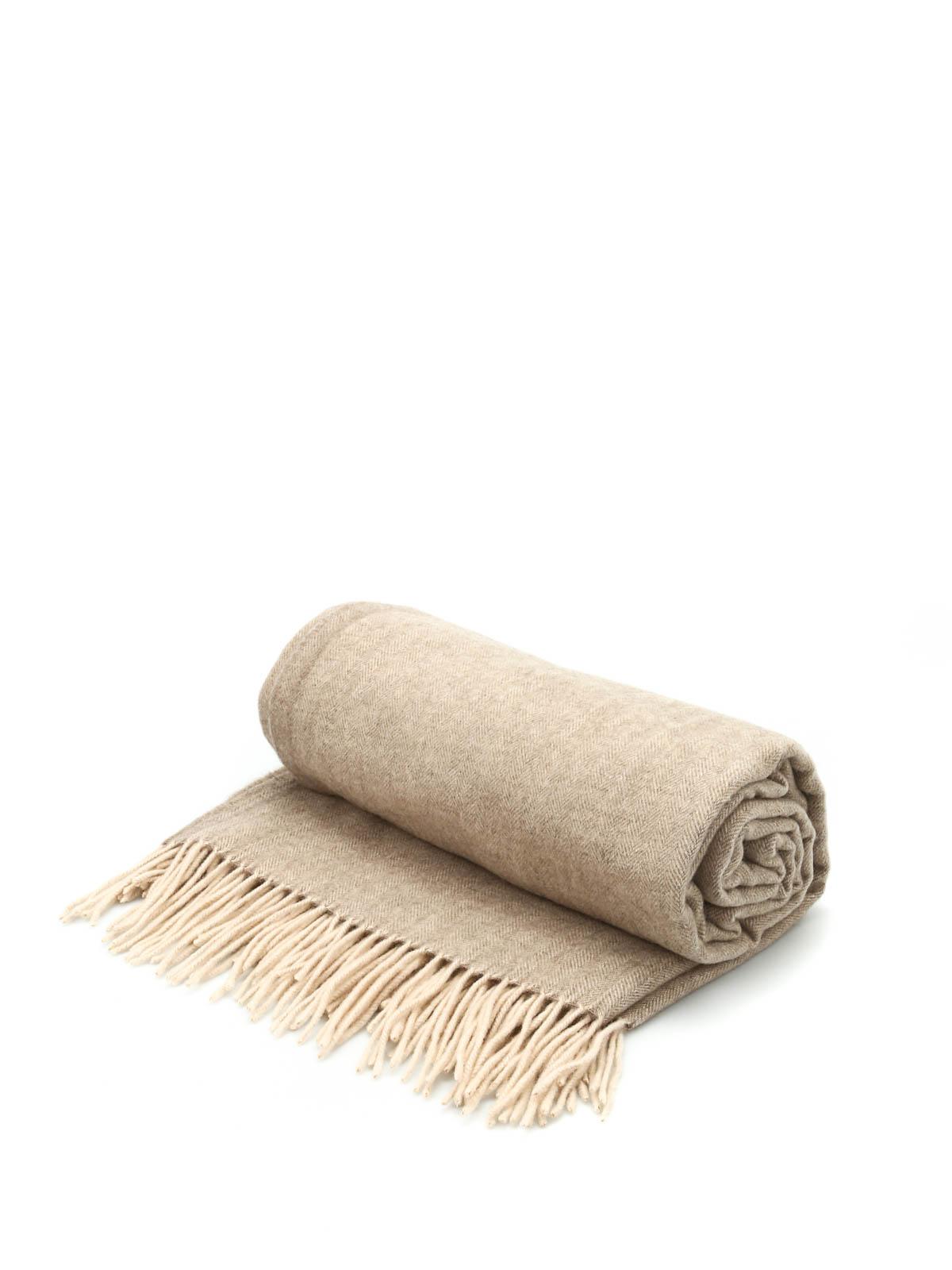 Herringbone Cashmere Throw By Company Blankets