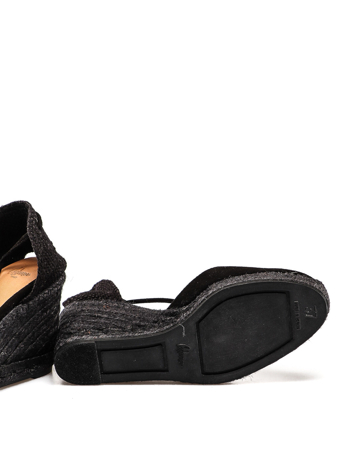 d0981a3fd2d Castaner - Carina black suede wedge espadrilles - espadrilles ...